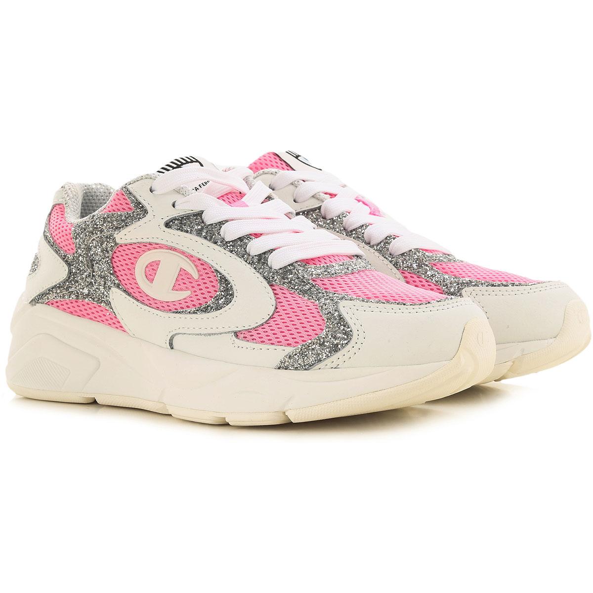 Chiara Ferragni Sneakers for Women On Sale, White, Fabric, 2019, 10 11 8 9