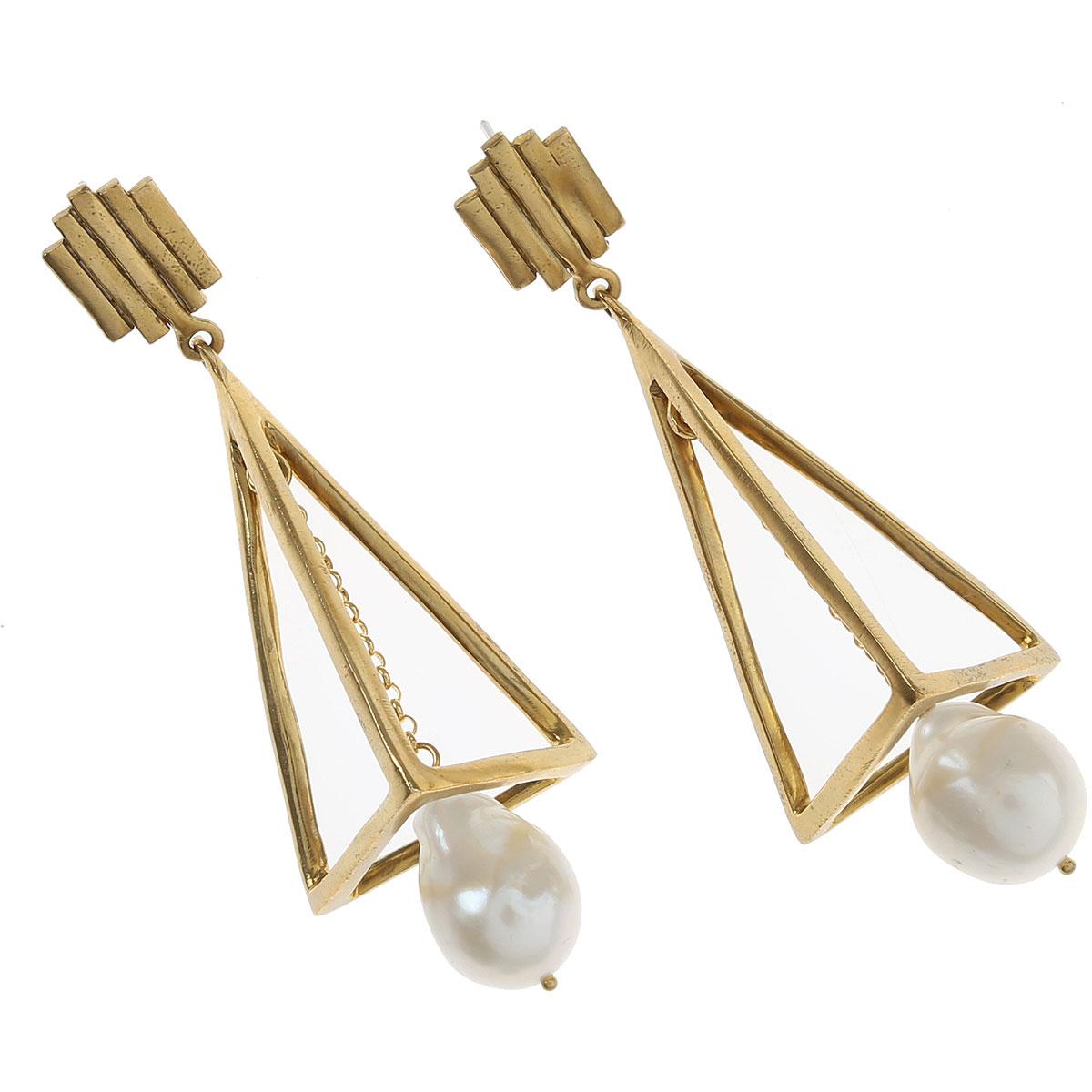Chiara Bcn Earrings for Women On Sale, Gold, Brass, 2019