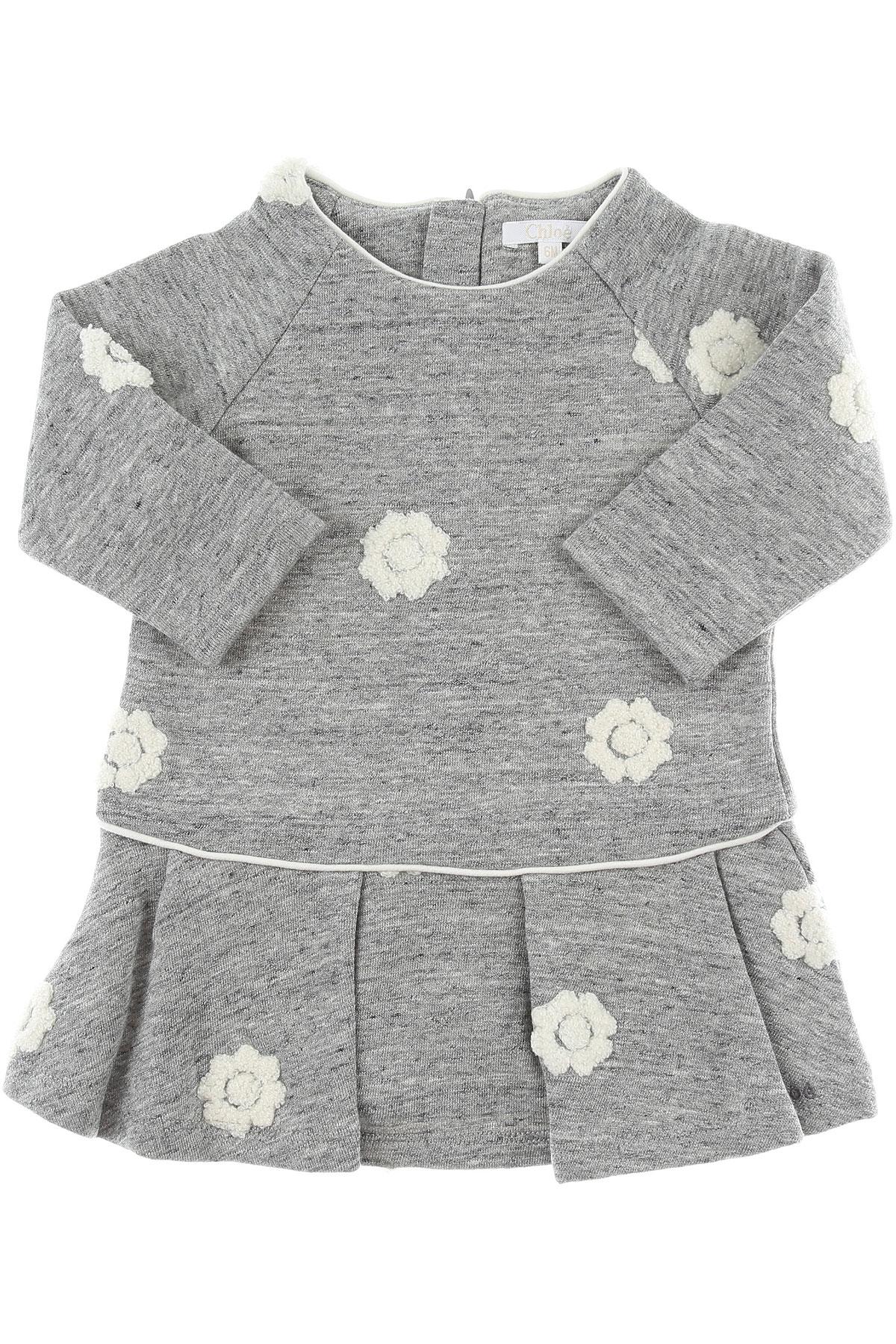 Image of Chloe Baby Dress for Girls, Grey, Cotton, 2017, 12M 18M 2Y 3Y 6M 9M