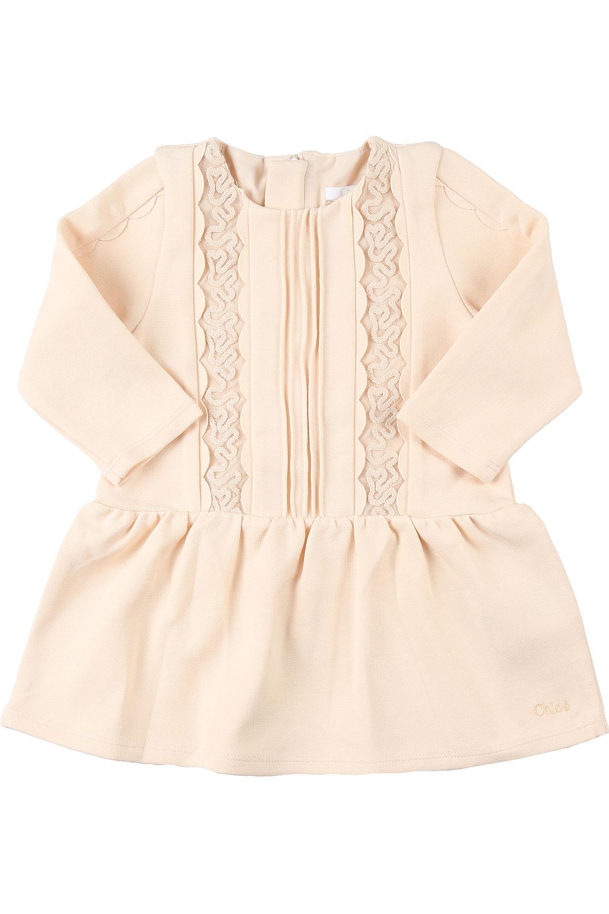 Chloe Baby Dress for Girls On Sale, Powder, Cotton, 2019, 12M 18M 2Y 3Y 6M 9M