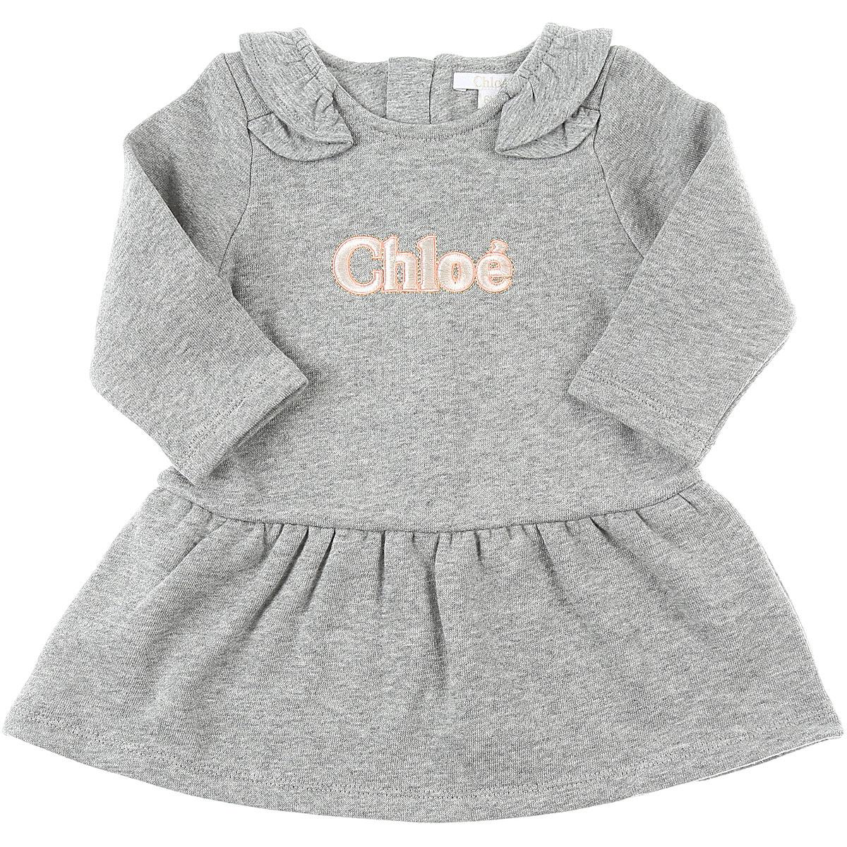 Chloe Baby Dress for Girls On Sale, Grey, Cotton, 2019, 12M 2Y 3Y 6M 9M