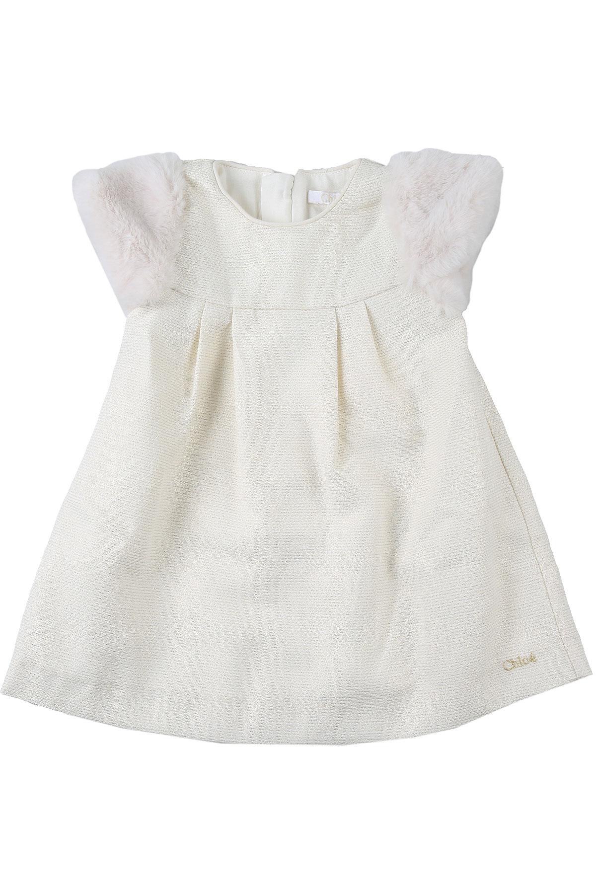 Chloe Baby Dress for Girls On Sale, Milk, polyester, 2019, 12M 18M 3Y 6M