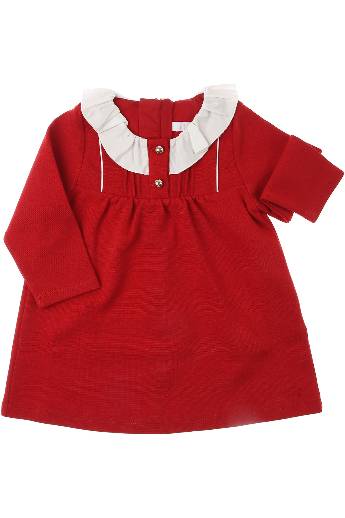 Chloe Baby Dress for Girls On Sale, Red, Cotton, 2019, 12M 6M 9M