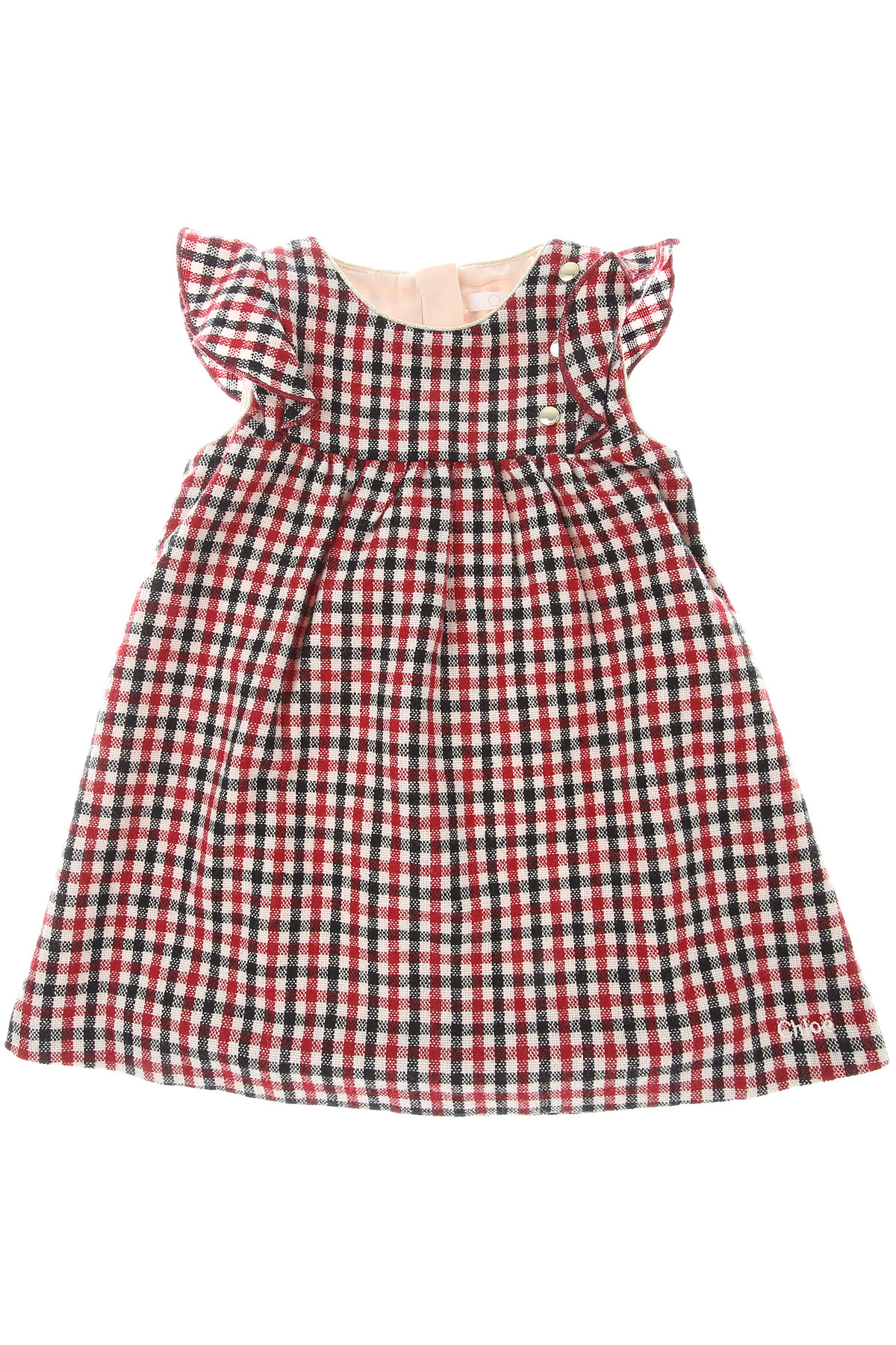 Chloe Baby Dress for Girls On Sale, Red, Acrylic, 2019, 12M 6M 9M