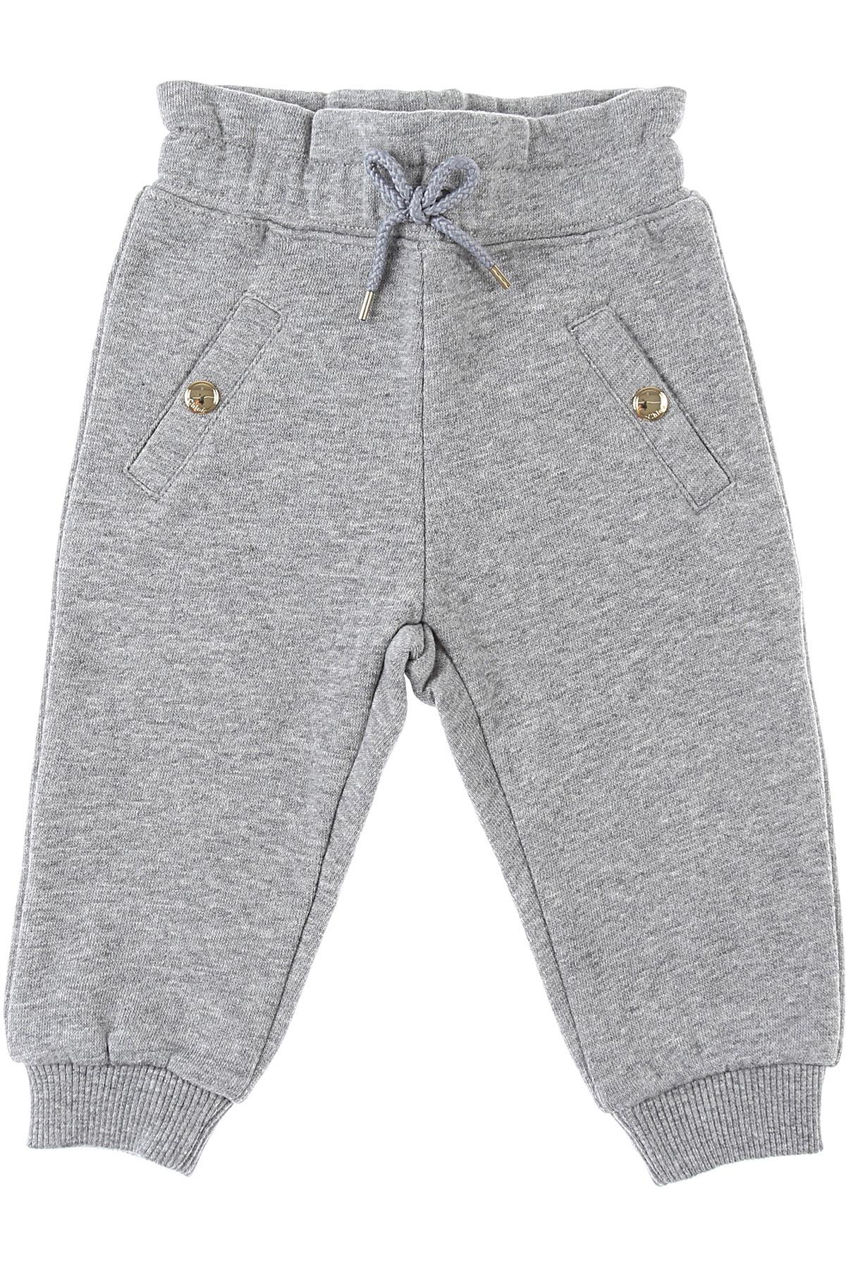 Chloe Baby Sweatpants for Girls On Sale, Grey, Cotton, 2019, 12M 18M 2Y 3Y 6M 9M