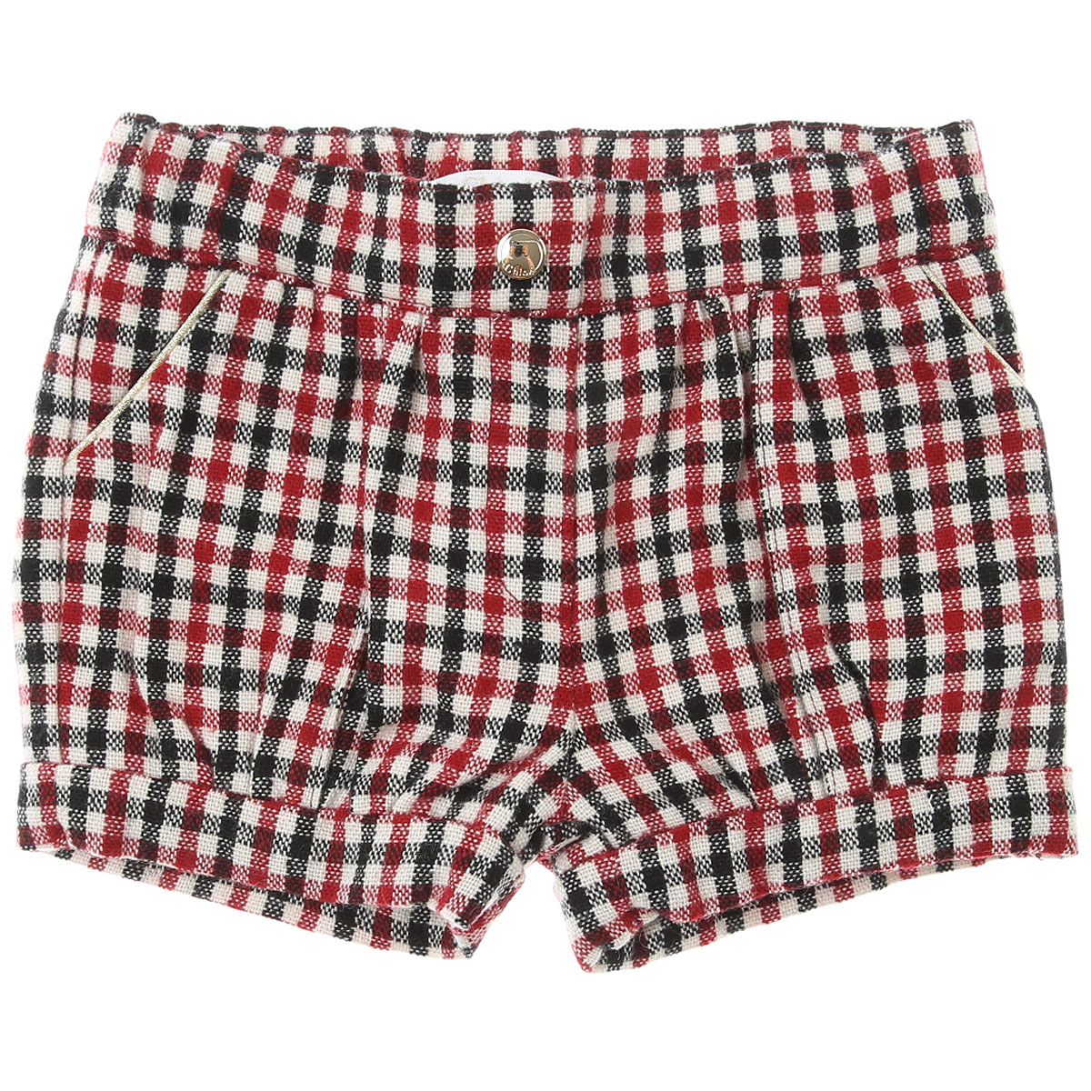 Chloe Baby Shorts for Girls On Sale, Red, Acrylic, 2019, 12M 18M 2Y 6M 9M