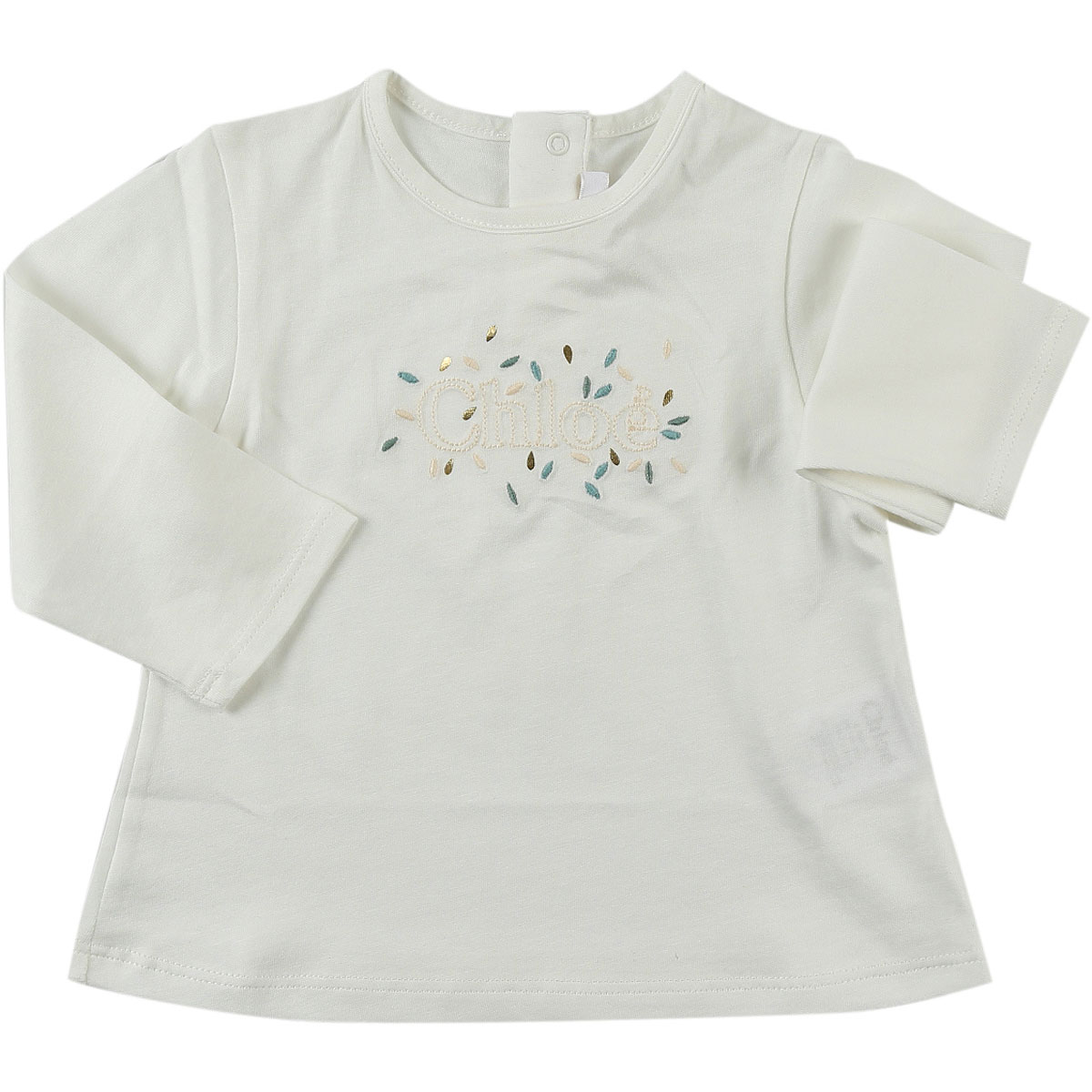 Image of Chloe Baby T-Shirt for Girls, White, Cotton, 2017, 12M 18M 2Y 3Y 6M 9M