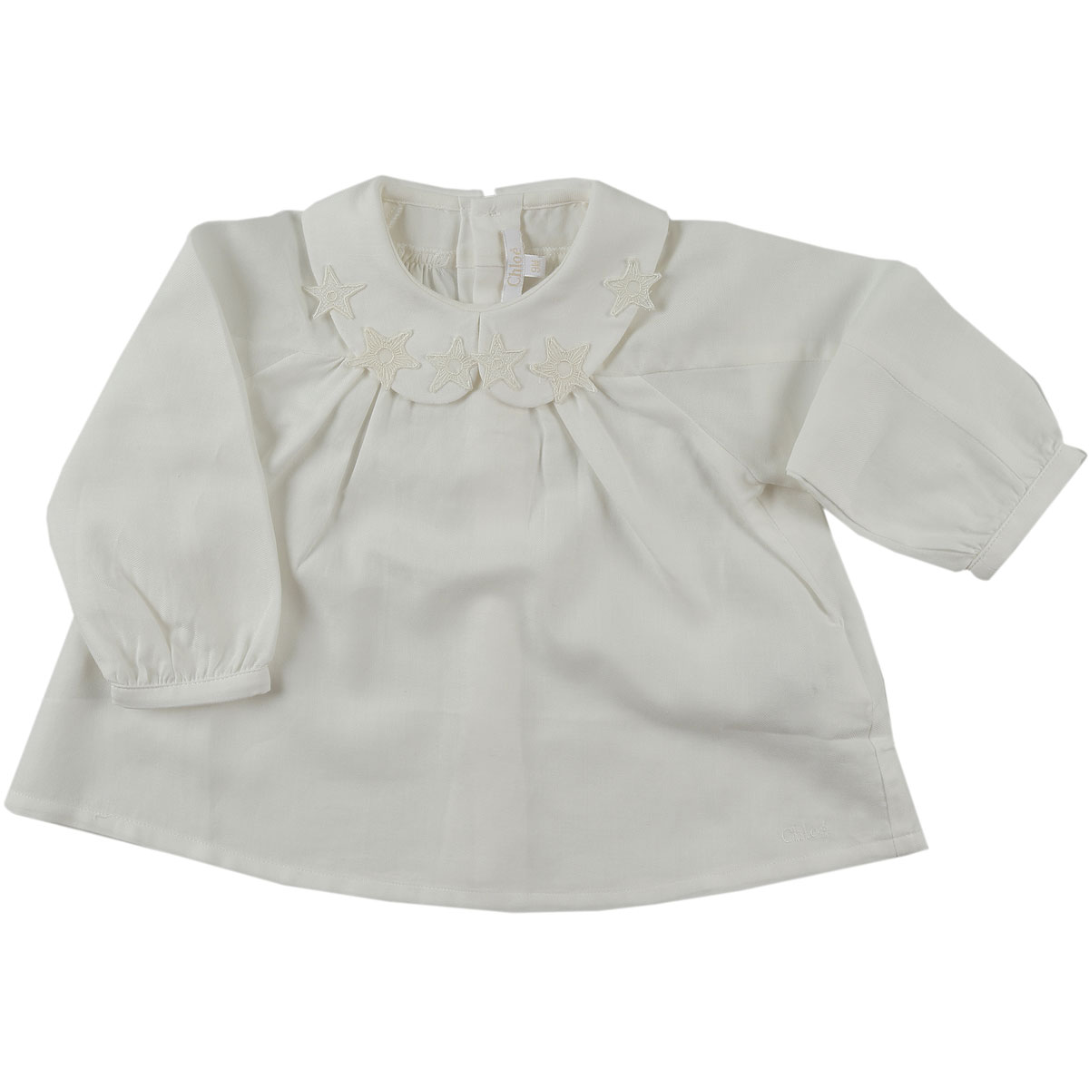 Image of Chloe Baby Shirts for Girls, White, Cotton, 2017, 12M 18M 2Y 3Y 6M 9M