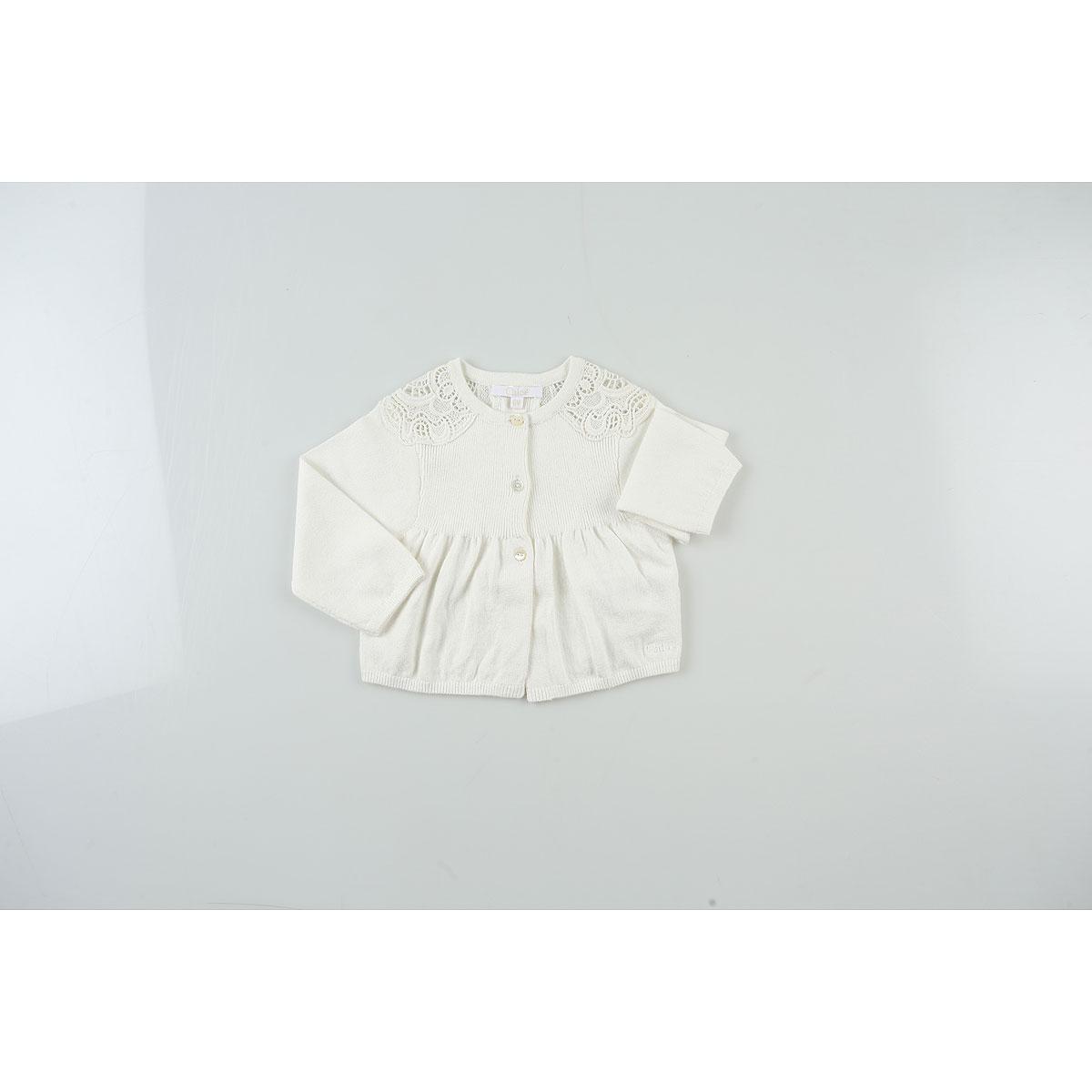 Image of Chloe Baby Sweaters for Girls, White, Cotton, 2017, 18M 2Y 6M 9M