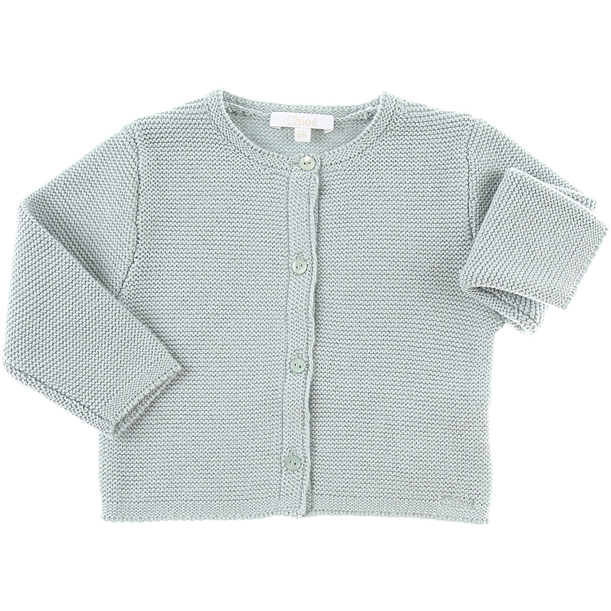 Image of Chloe Baby Sweaters for Girls, Green Water, Cotton, 2017, 12M 18M 2Y 3Y 6M 9M