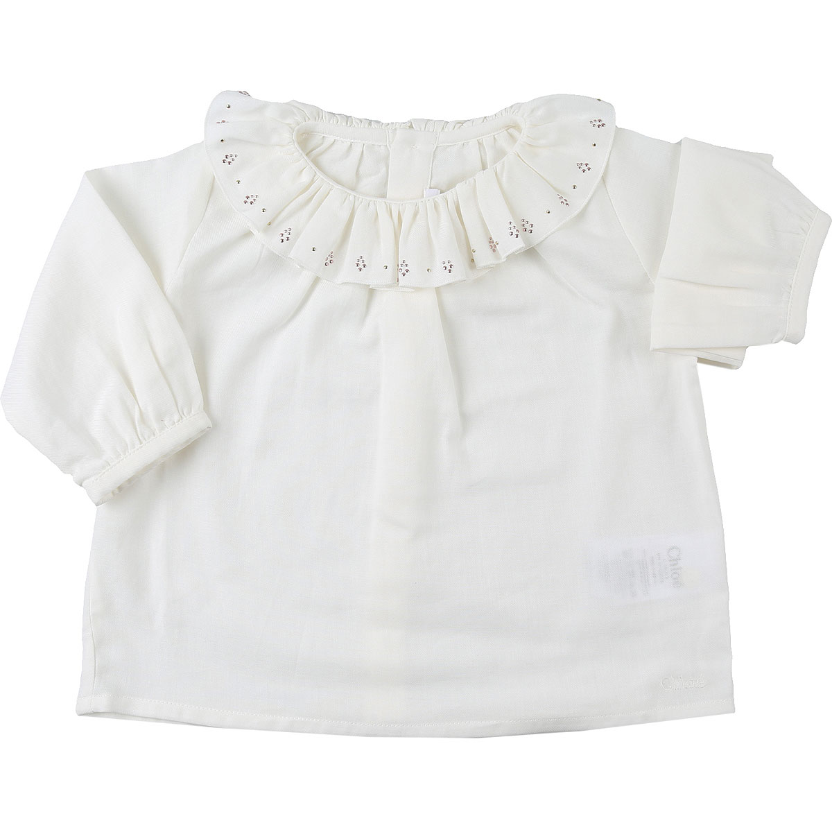 Chloe Baby Shirts for Girls On Sale, White, Cotton, 2019, 12M 3Y 6M