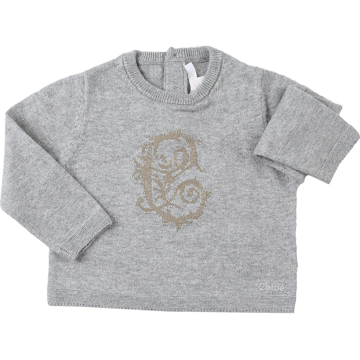 Chloe Baby Sweaters for Girls On Sale, Grey Melange, Cotton, 2019, 12M 18M 2Y 6M
