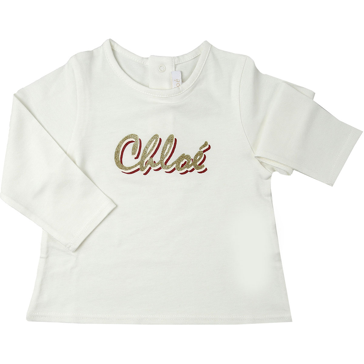 Chloe Baby T-Shirt for Girls On Sale, White, Cotton, 2019, 18M 2Y 3Y 6M 9M