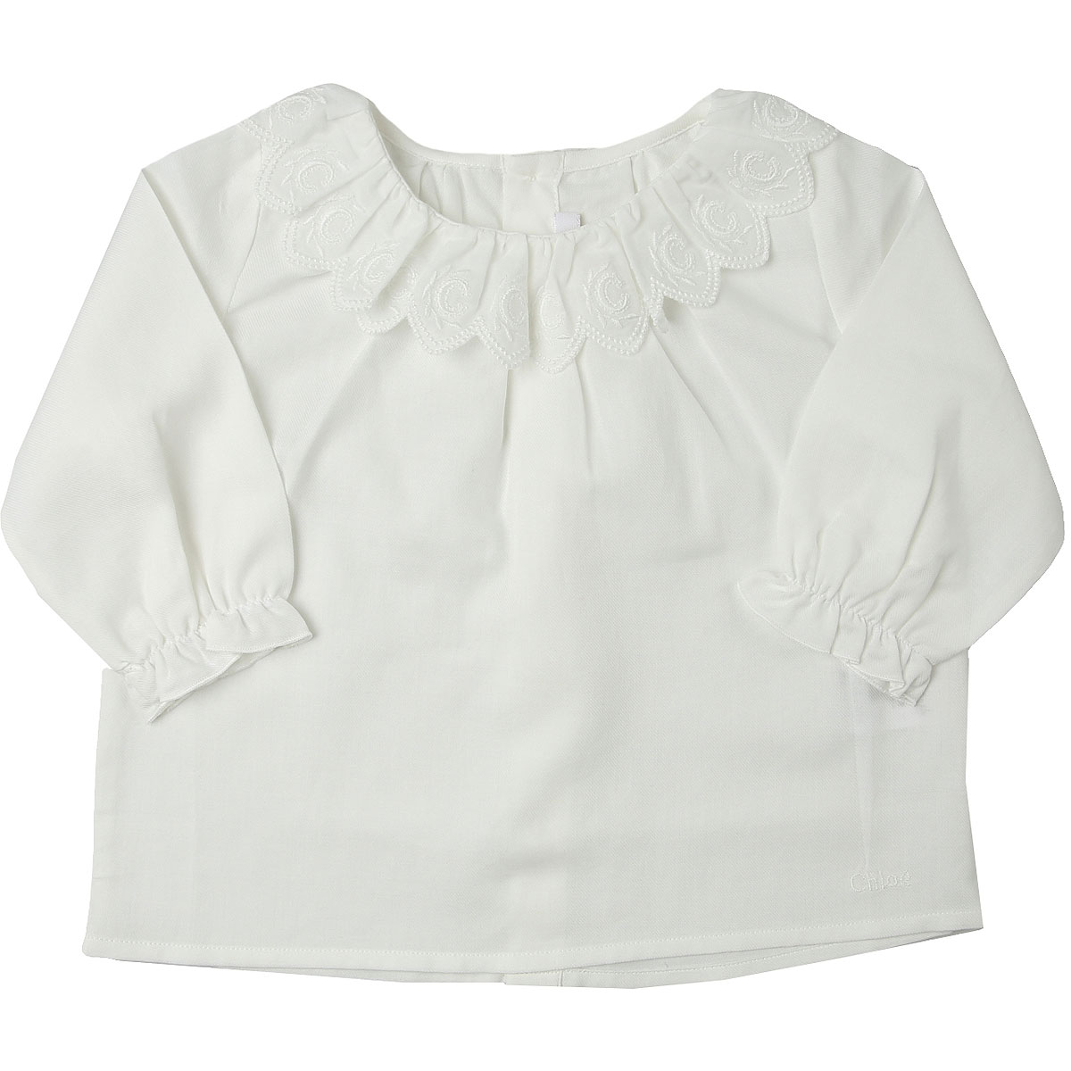 Chloe Baby Shirts for Girls On Sale, White, Cotton, 2019, 12M 2Y 6M 9M