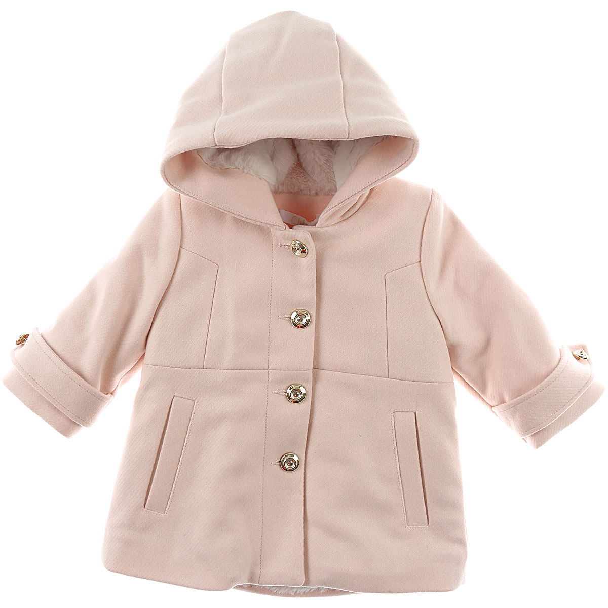 Image of Chloe Baby Coats for Girls, Pink, Wool, 2017, 12M 18M 2Y 3Y 6M 9M
