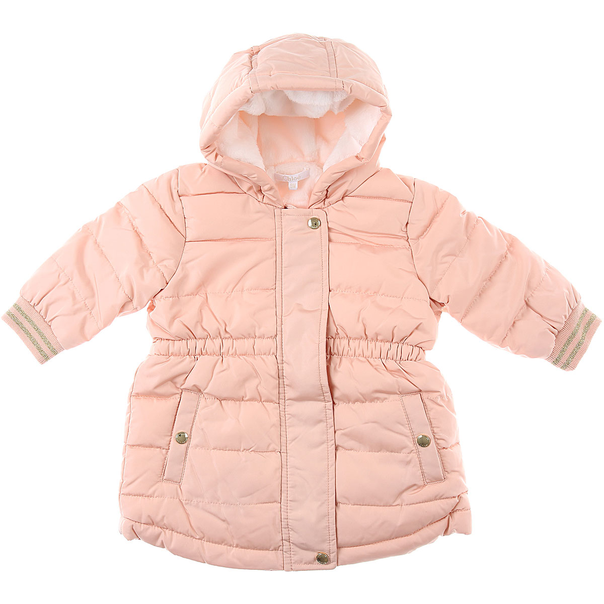 Chloe Baby Down Jacket for Girls On Sale, Pink Apricot, polyester, 2019, 12M 18M 2Y 9M