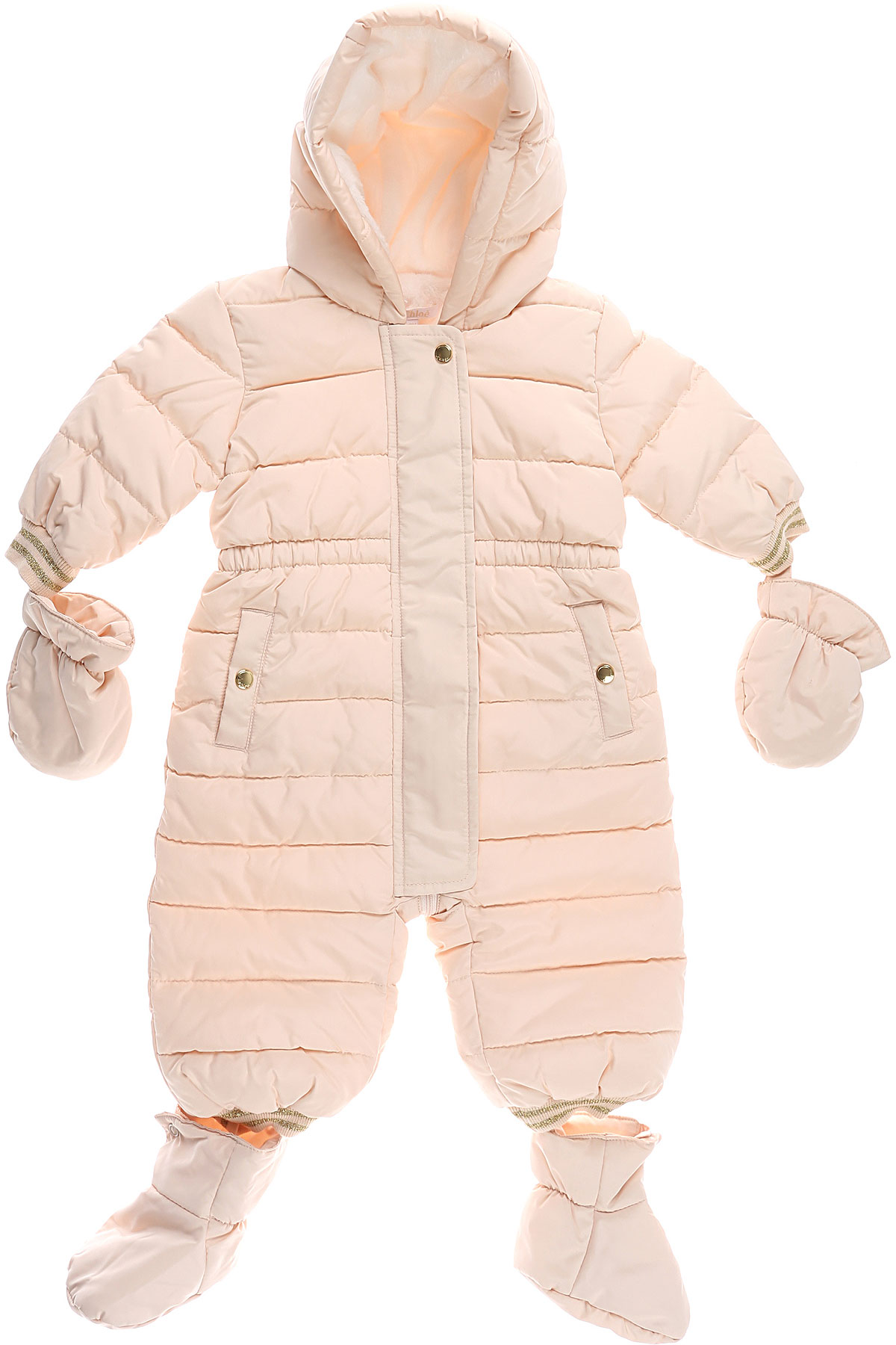 Chloe Baby Down Jacket for Girls On Sale, Powder, polyester, 2019, 3M 6M 9M