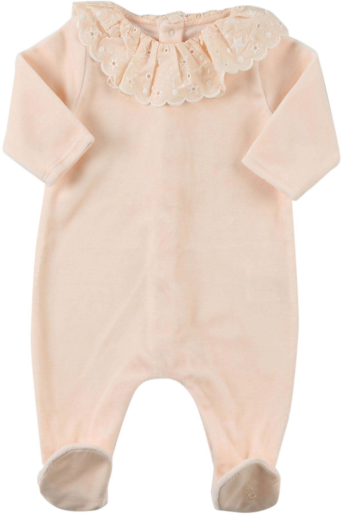 Image of Chloe Baby Bodysuits & Onesies for Girls, Pink, Cotton, 2017, 1M 3M