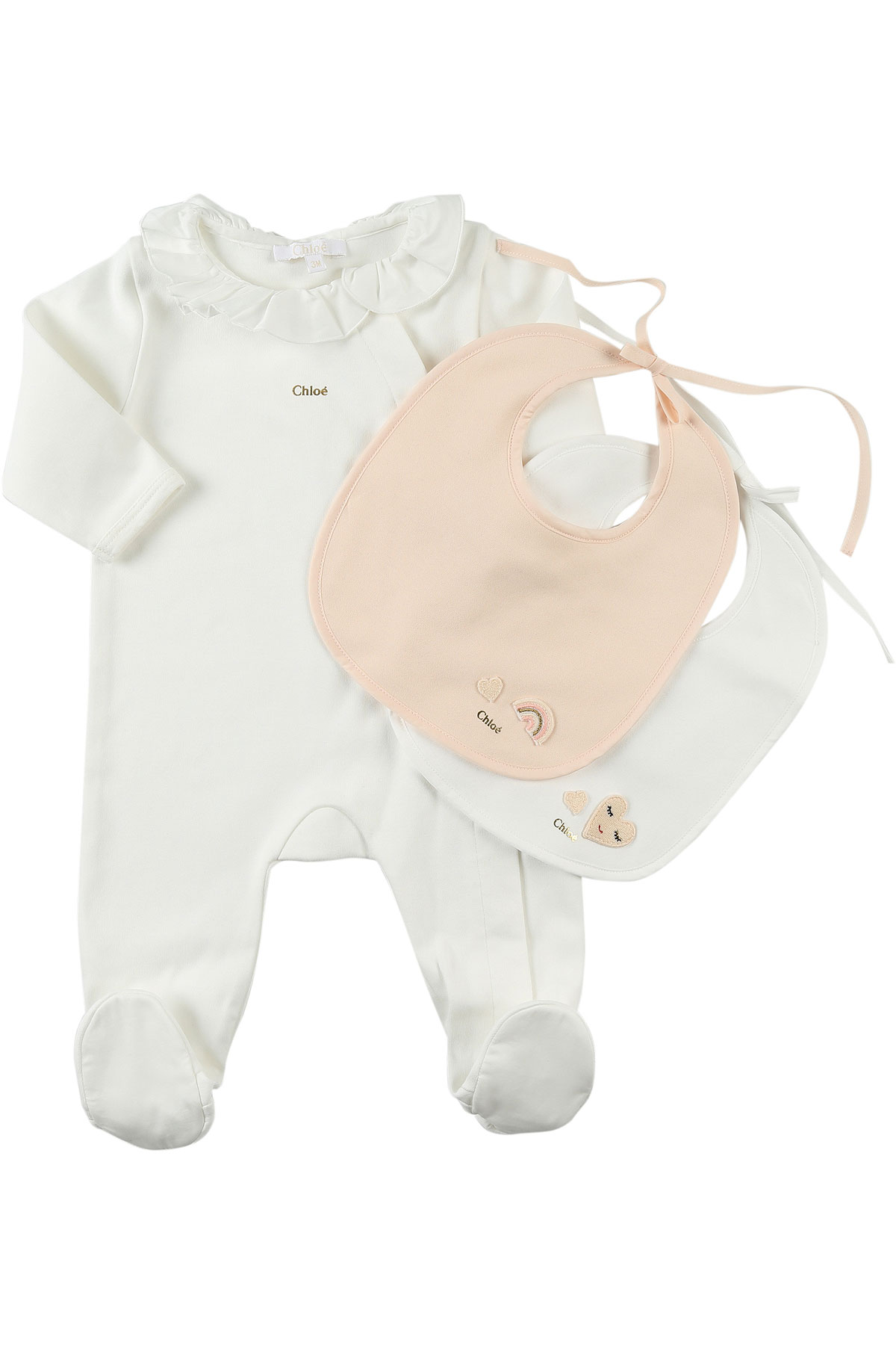 Image of Chloe Baby Sets for Girls, White, Cotton, 2017, 1M 3M