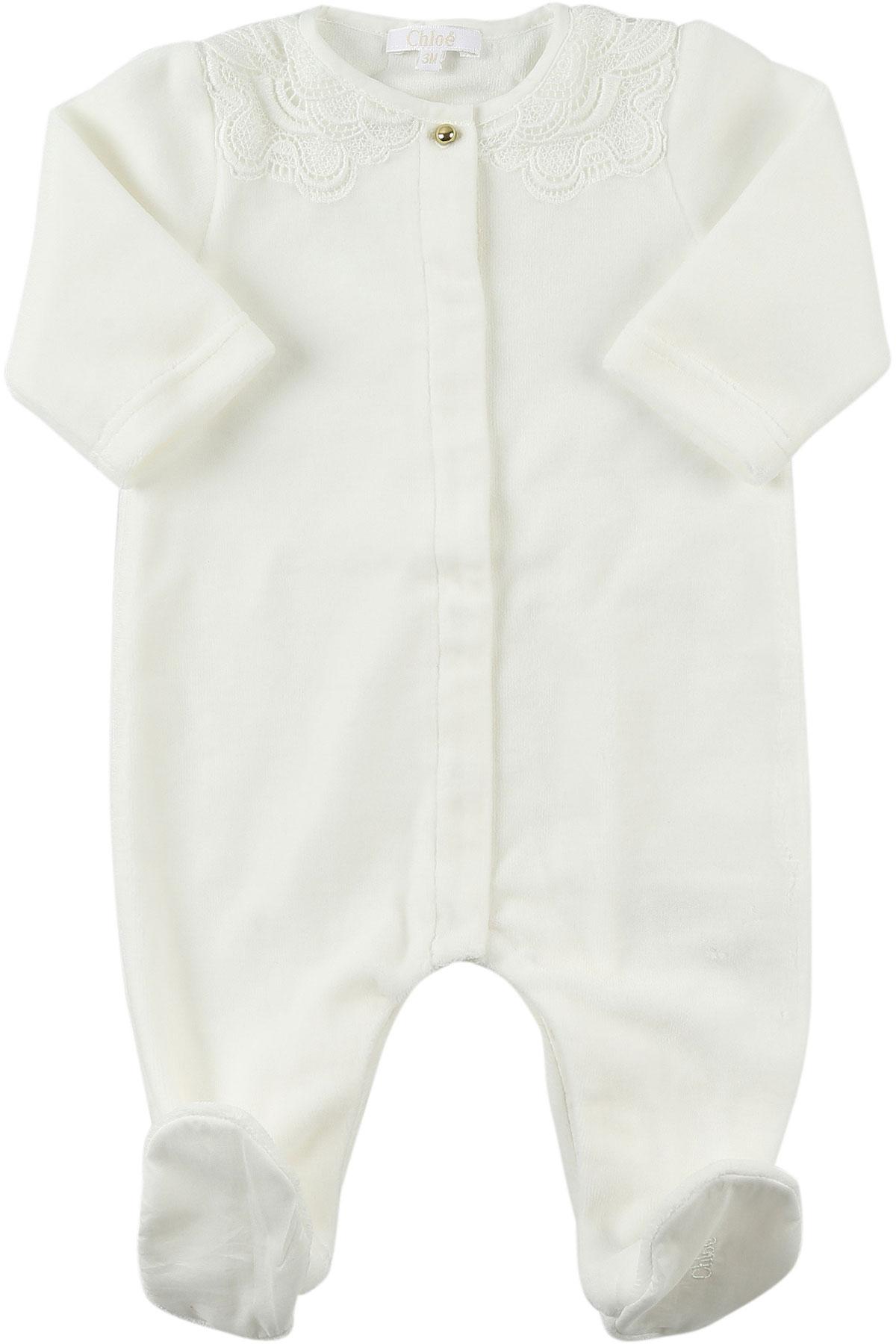 Image of Chloe Baby Bodysuits & Onesies for Girls, White, Cott, 2017, 1M 3M
