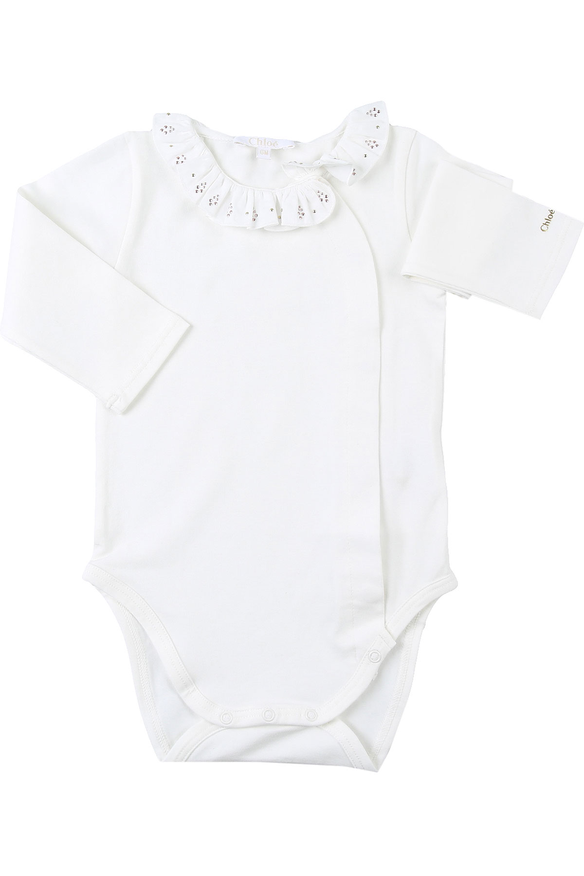 Chloe Baby Bodysuits & Onesies for Girls On Sale, White, Cotton, 2019, 12M 6M 9M