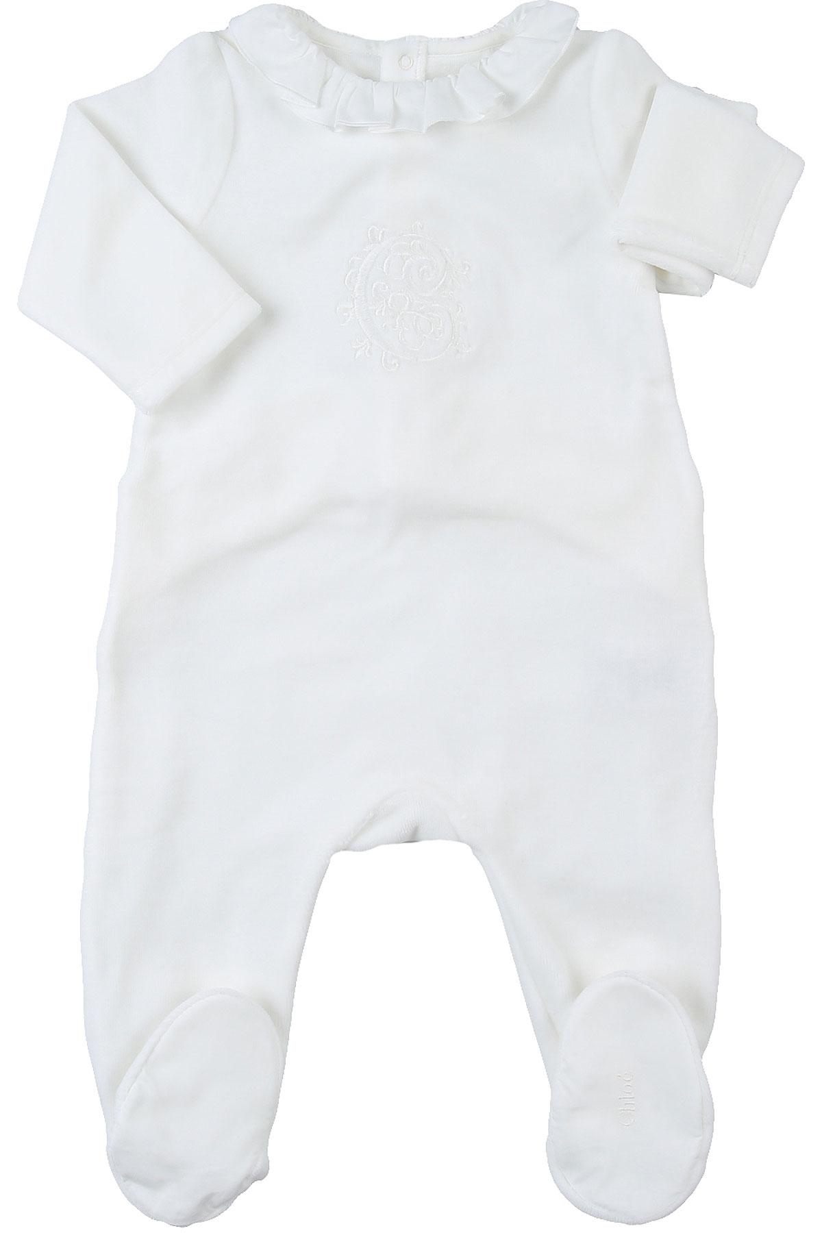 Chloe Baby Bodysuits & Onesies for Girls On Sale, White, Cotton, 2019, 1M 3M 6M 9M