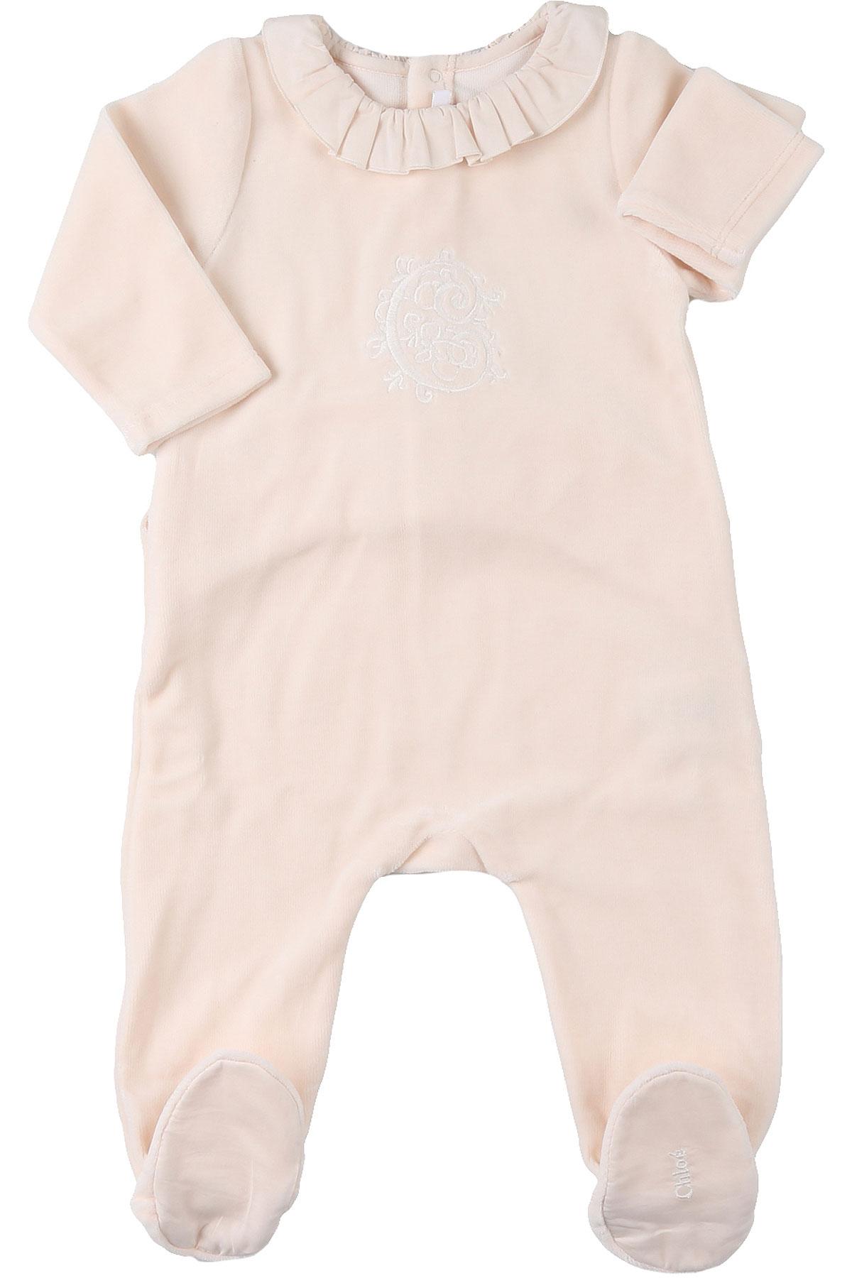 Chloe Baby Bodysuits & Onesies for Girls On Sale, Light Salmon, Cotton, 2019, 1M 3Y 6M