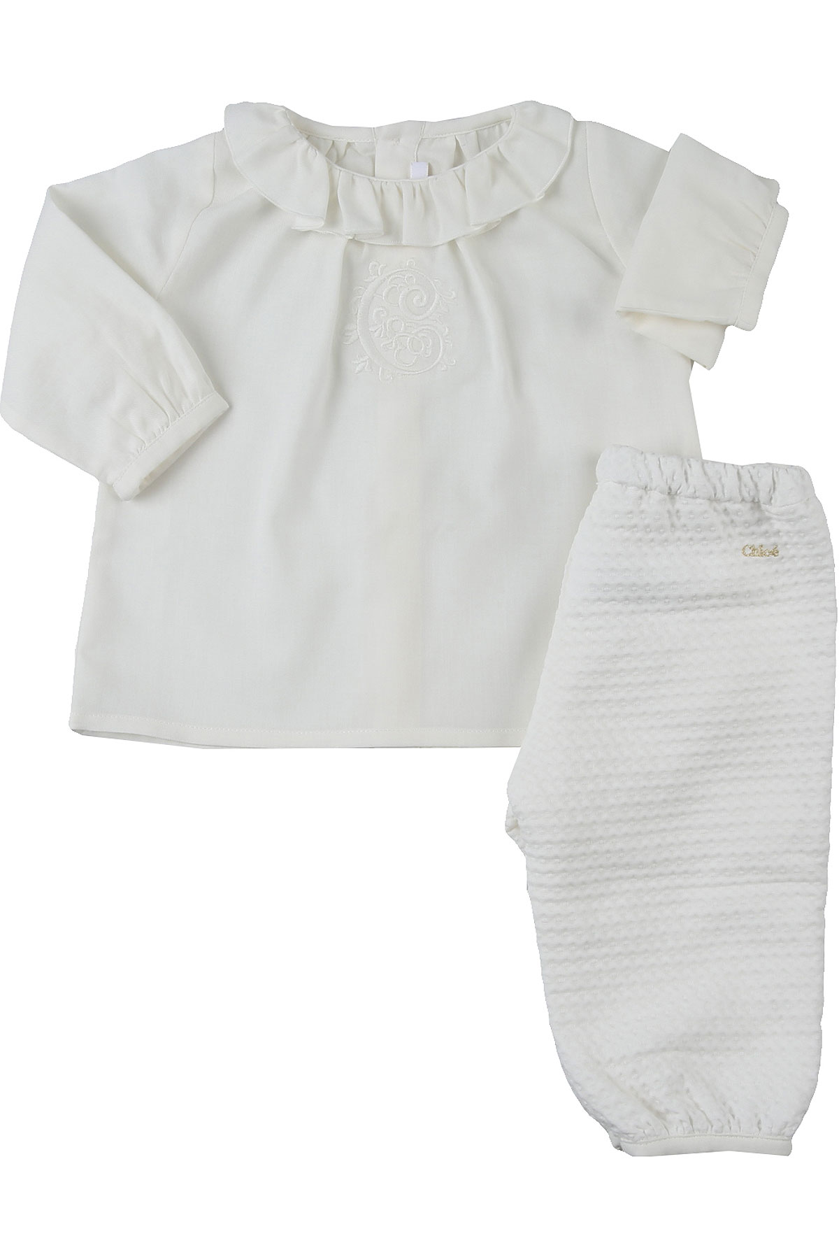 Chloe Baby Sets for Girls On Sale, White, Cotton, 2019, 12M 18M 3M 6M 9M
