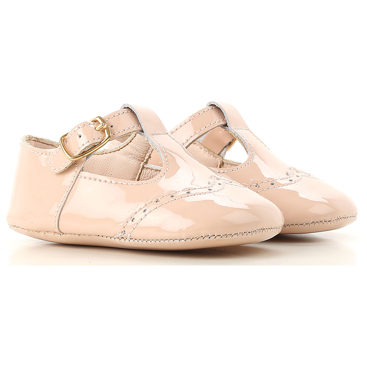 Image of Chloe Baby Shoes for Girls, Nude Pink, Patent Leather, 2017, 17 18