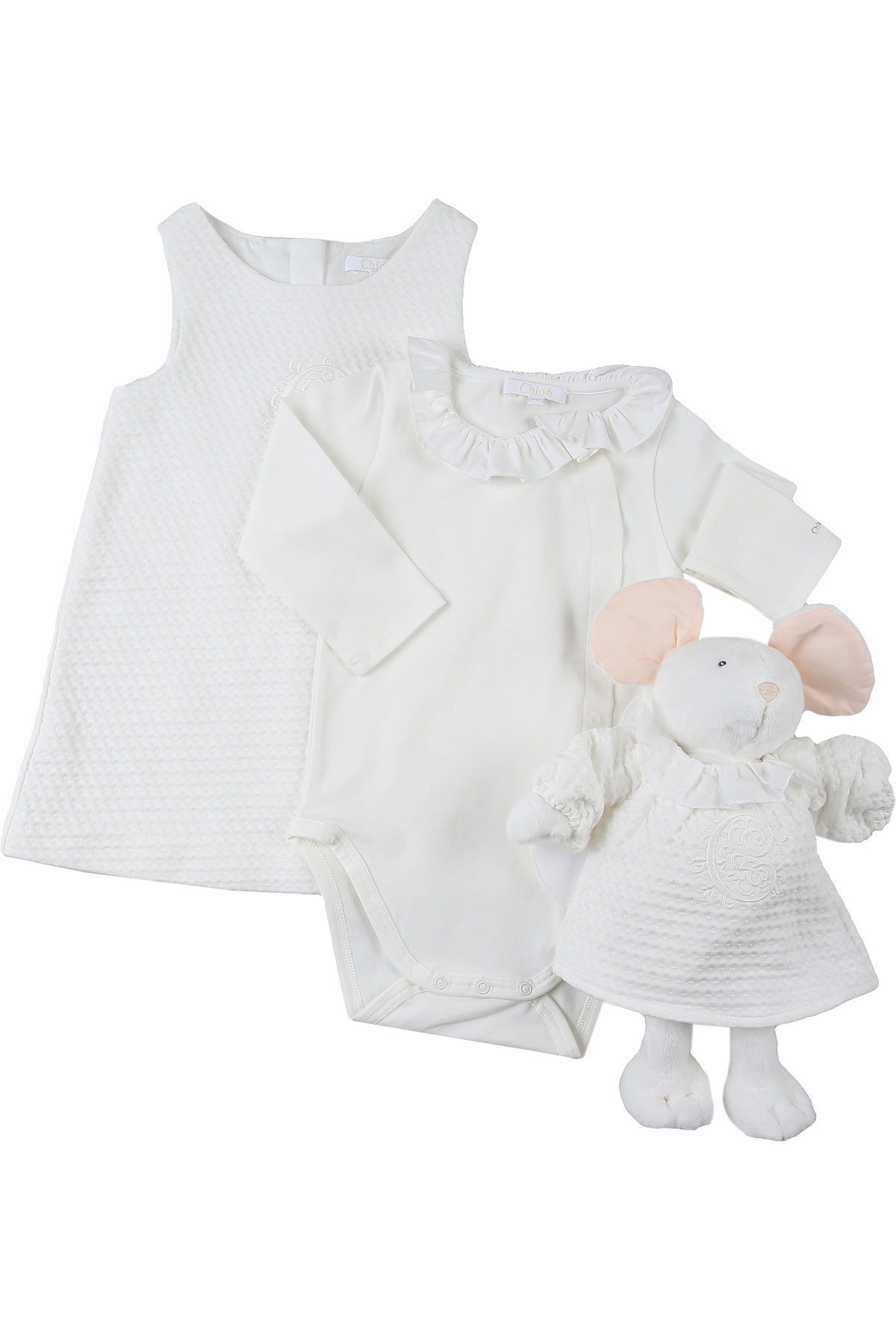 Chloe Baby Sets for Girls On Sale, White, Cotton, 2019, 12M 1M 3M 6M 9M
