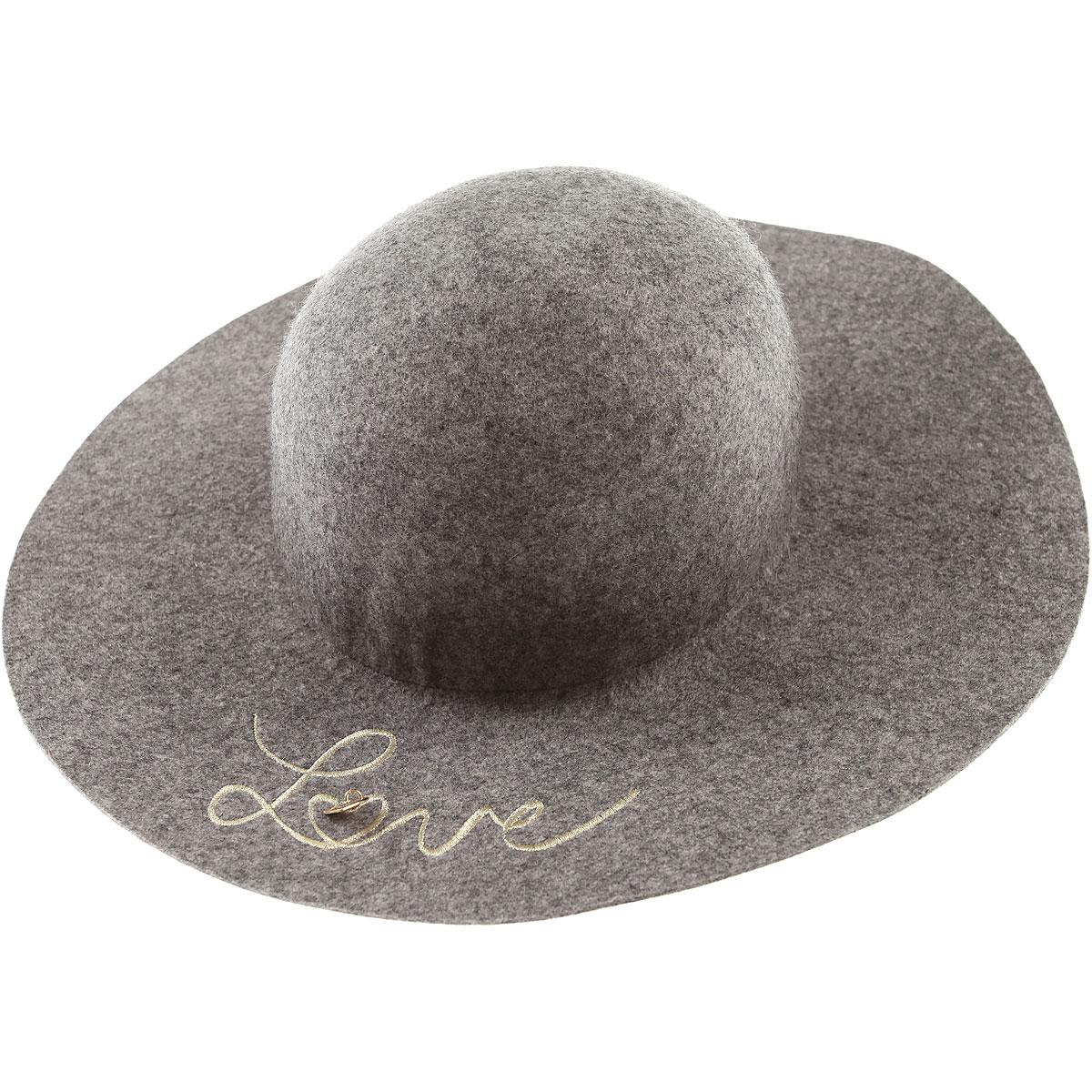 Image of Chloe Kids Hats for Girls, Grey, Wool, 2017, 58 56
