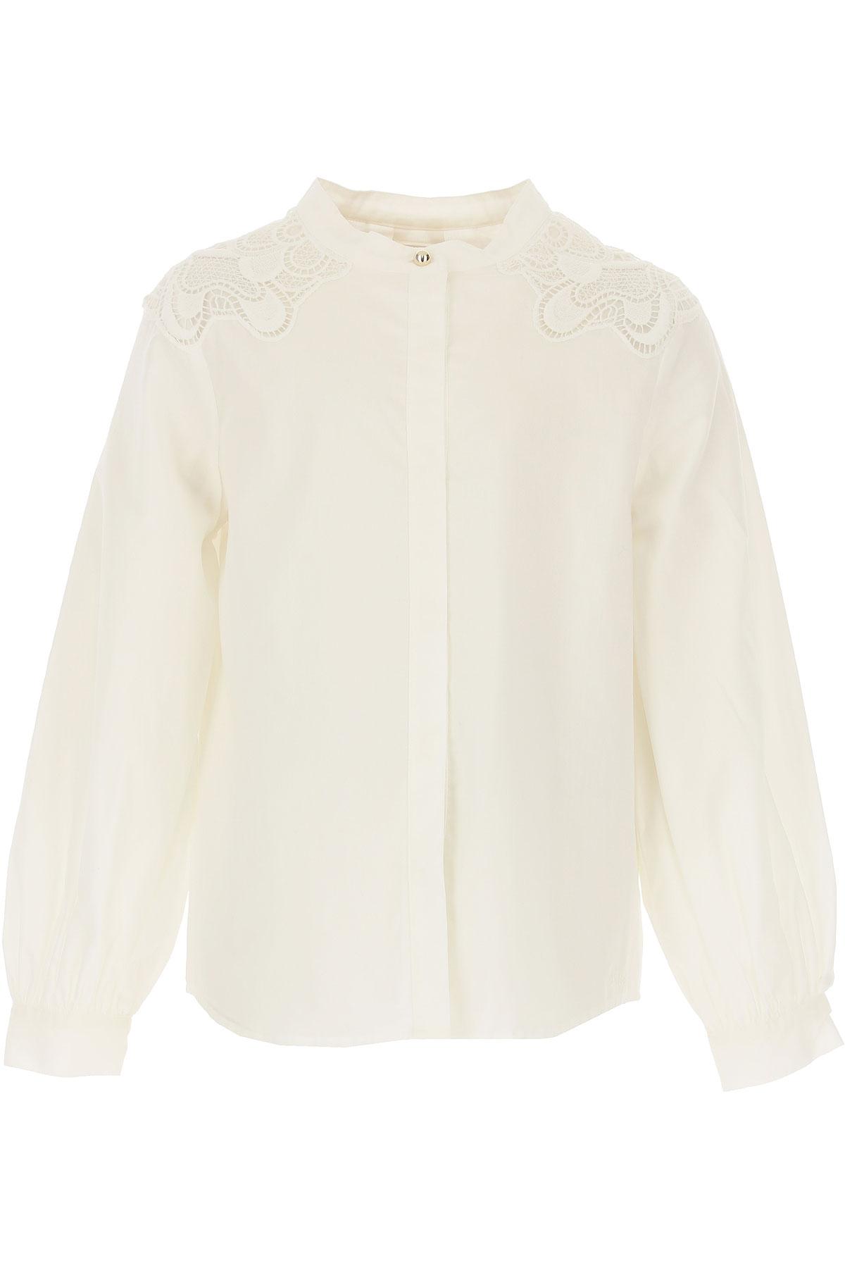 Image of Chloe Kids Shirts for Girls, White, Cotton, 2017, 10Y 14Y 4Y 5Y 6Y 8Y