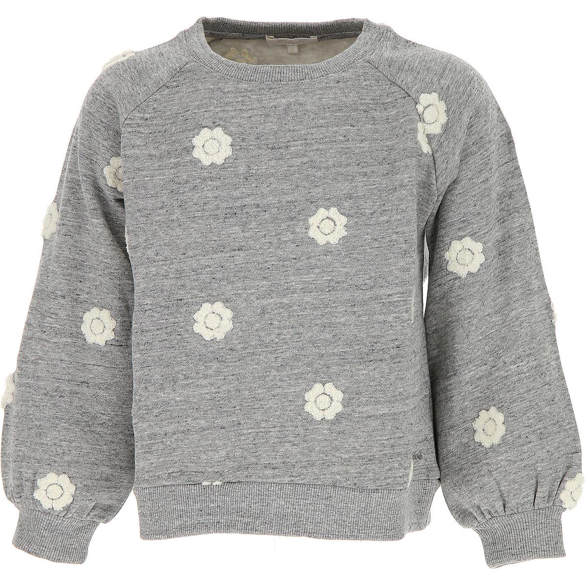 Image of Chloe Kids Sweatshirts & Hoodies for Girls, Grey, Cotton, 2017, 10Y 14Y 4Y 5Y 6Y 8Y