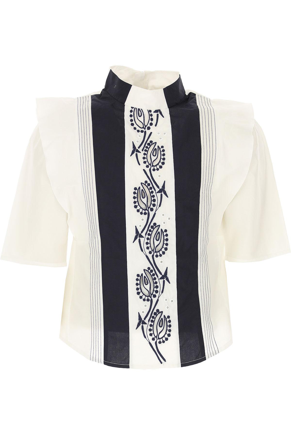 Chloé Chemises Enfant pour Fille, Blanc, Coton, 2017, 10Y 12Y 14Y 4Y 6Y 8Y