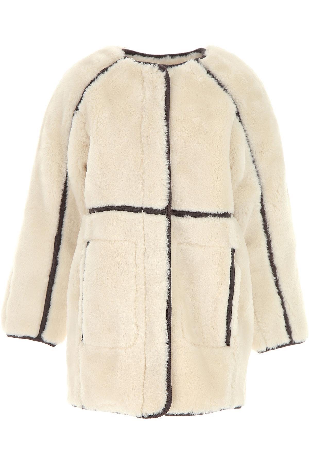 Image of Chloe {DESIGNER} Kids Coat for Girls, Ivory, polyester, 2017, 10Y 14Y 4Y 5Y 6Y 8Y