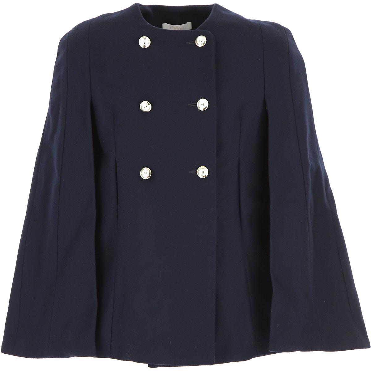 Image of Chloe Kids Jacket for Girls, Blue, Wool, 2017, 10Y 14Y 6Y 8Y