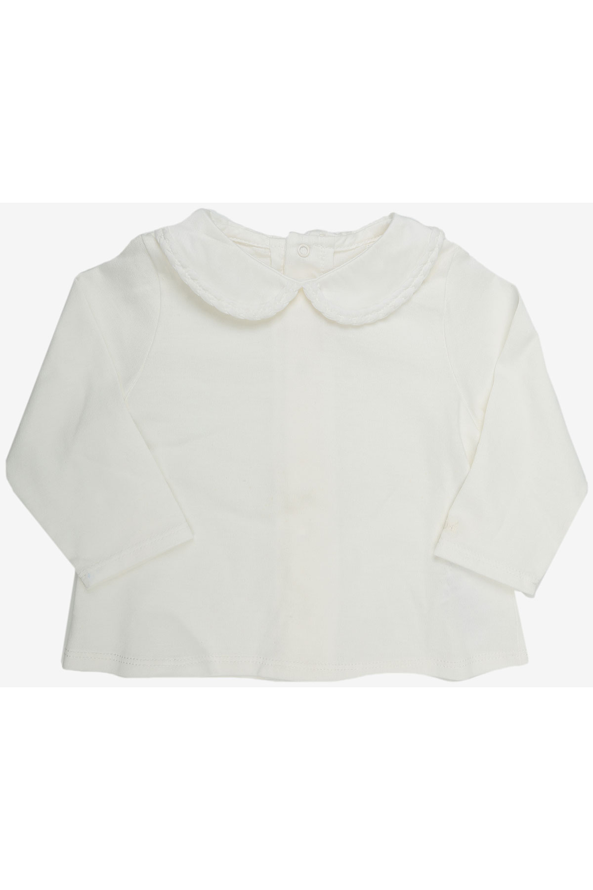 Chloe Baby Polo Shirt for Girls On Sale in Outlet, White, Cotton, 2019, 3M 6M