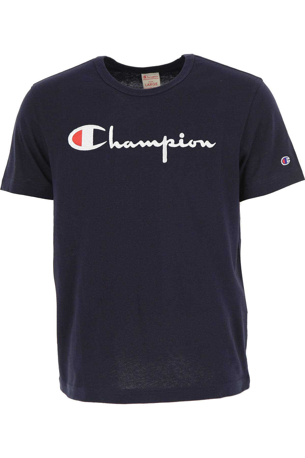 Champion T-Shirt for Men, navy, Cotton, 2017, L M USA-454789