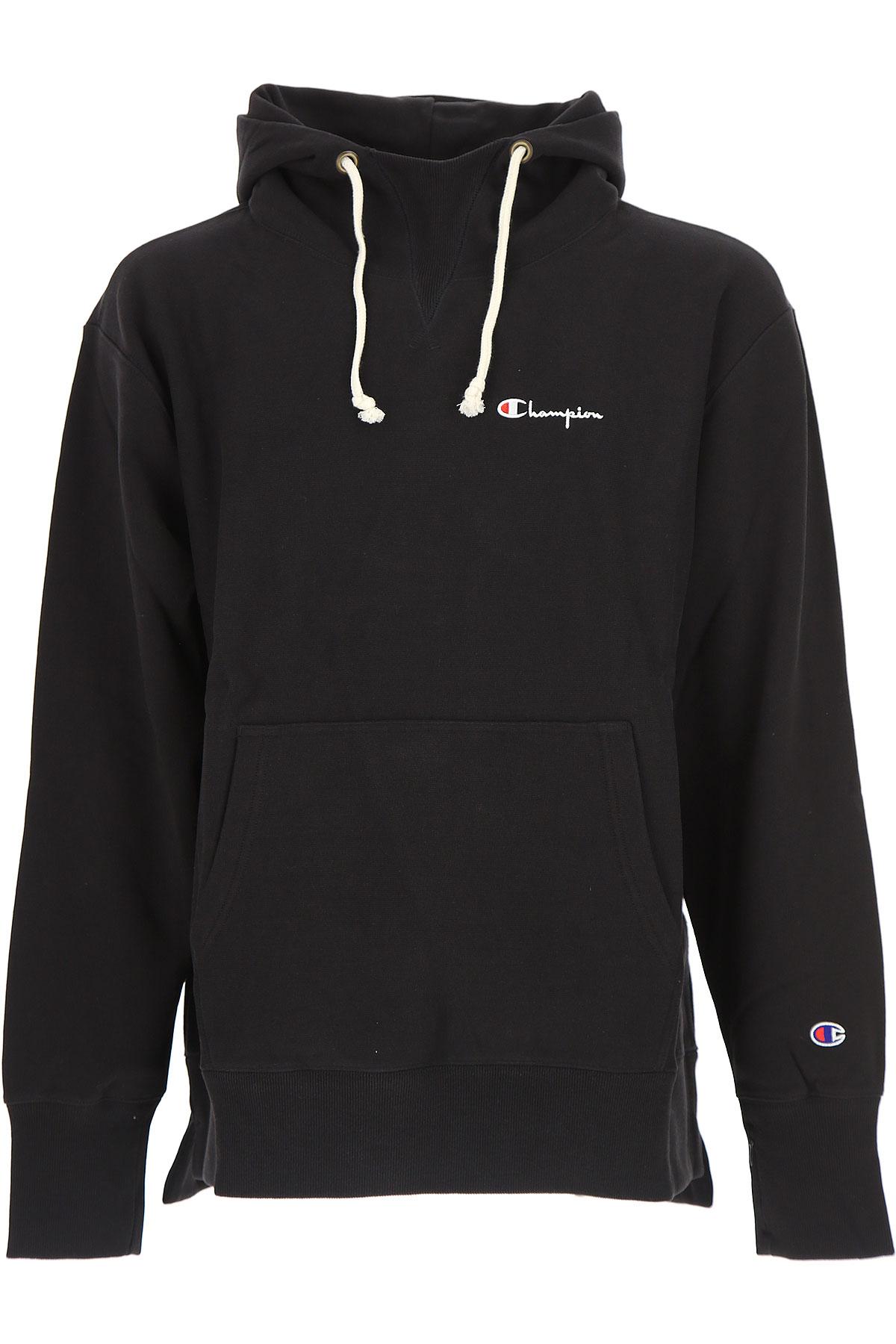 Champion Sweatshirt for Men On Sale, Black, Cotton, 2017, L M S XL USA-454766