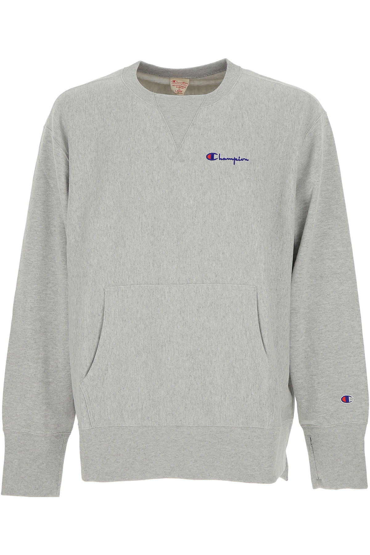 Champion Sweatshirt for Men, Grey, Cotton, 2017, L M S USA-454877