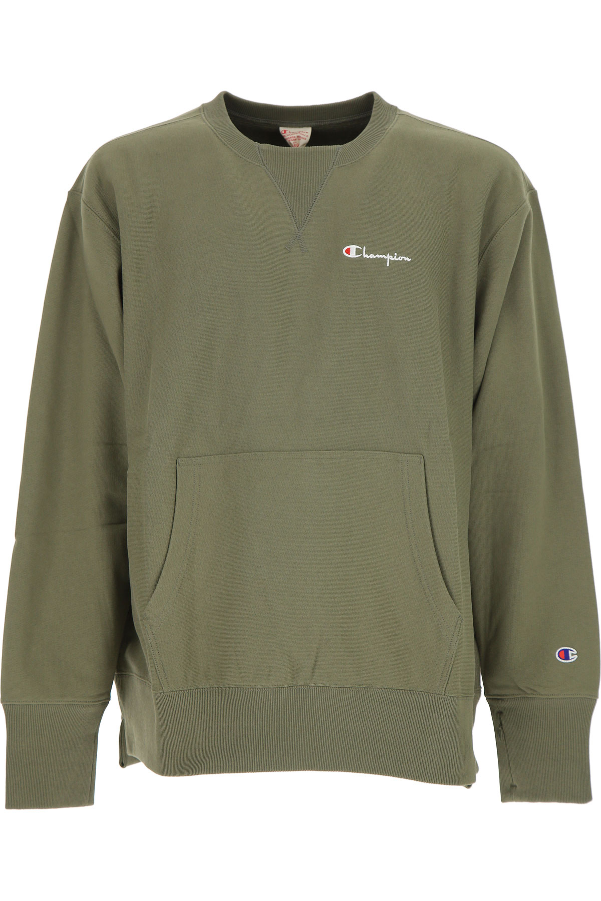 Champion Sweatshirt for Men On Sale, Olive, Cotton, 2017, L M S XL USA-454914
