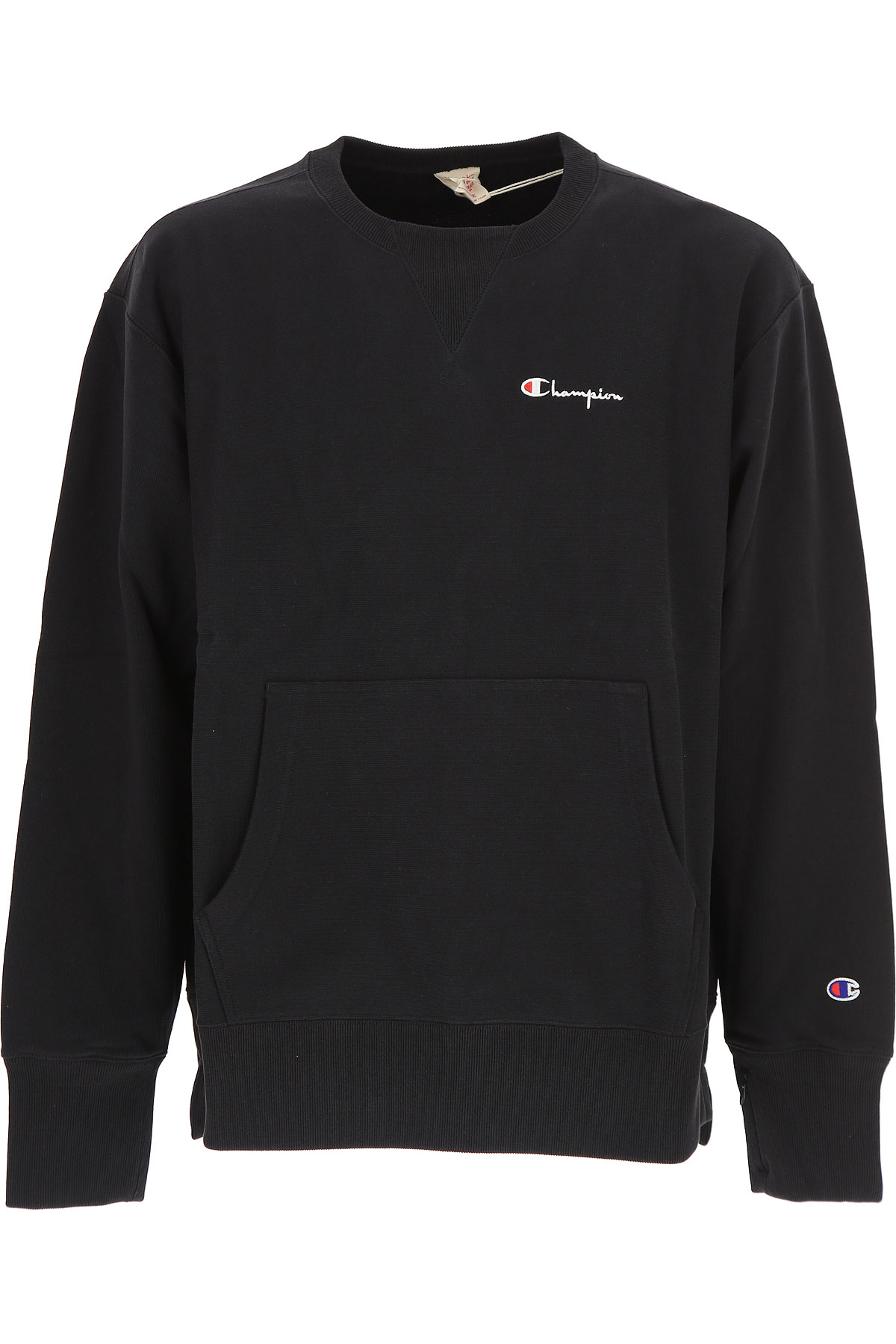 Champion Sweatshirt for Men, Black, Cotton, 2017, L M USA-454876