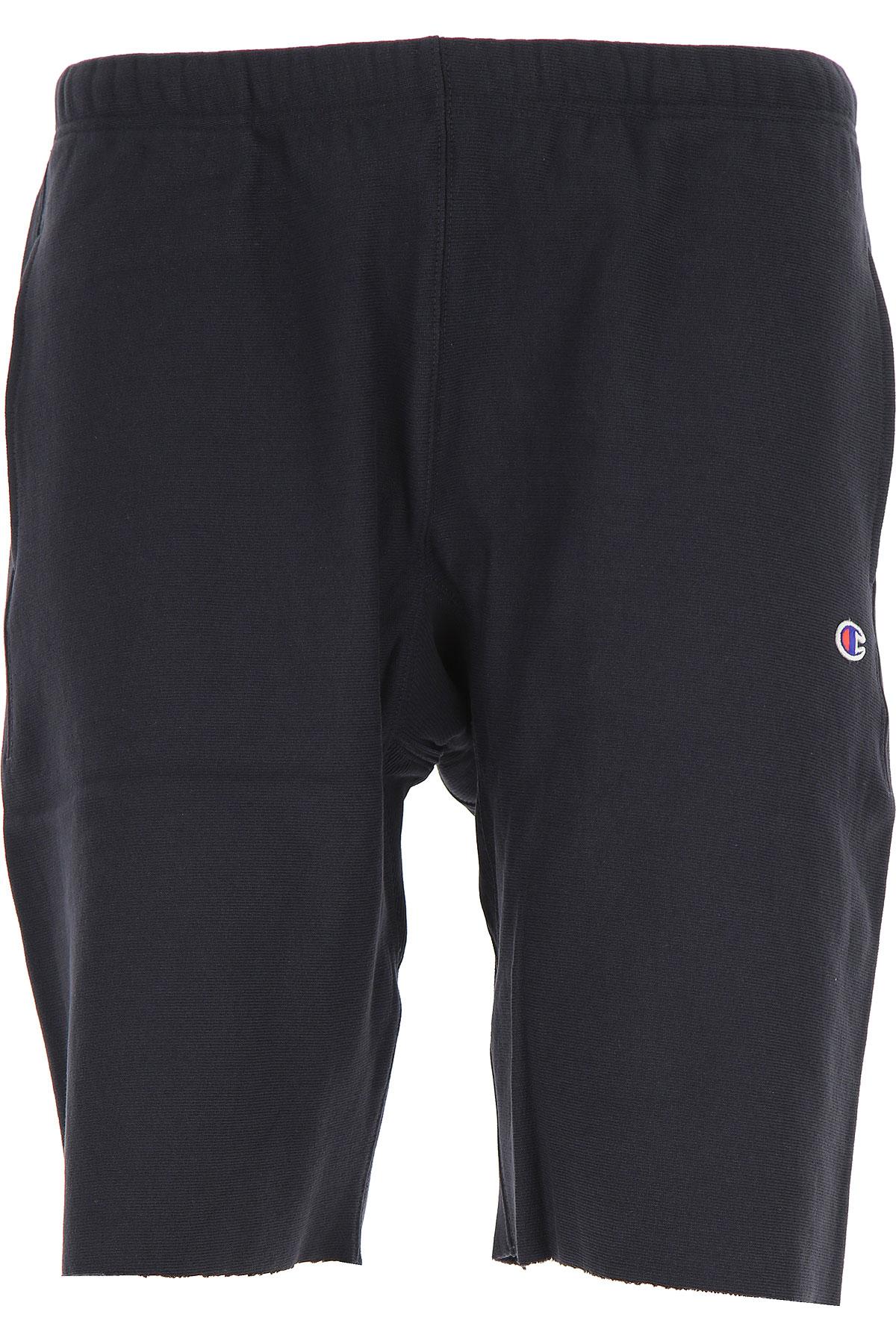 Image of Champion Shorts for Men On Sale, Black, Cotton, 2017, L S XL