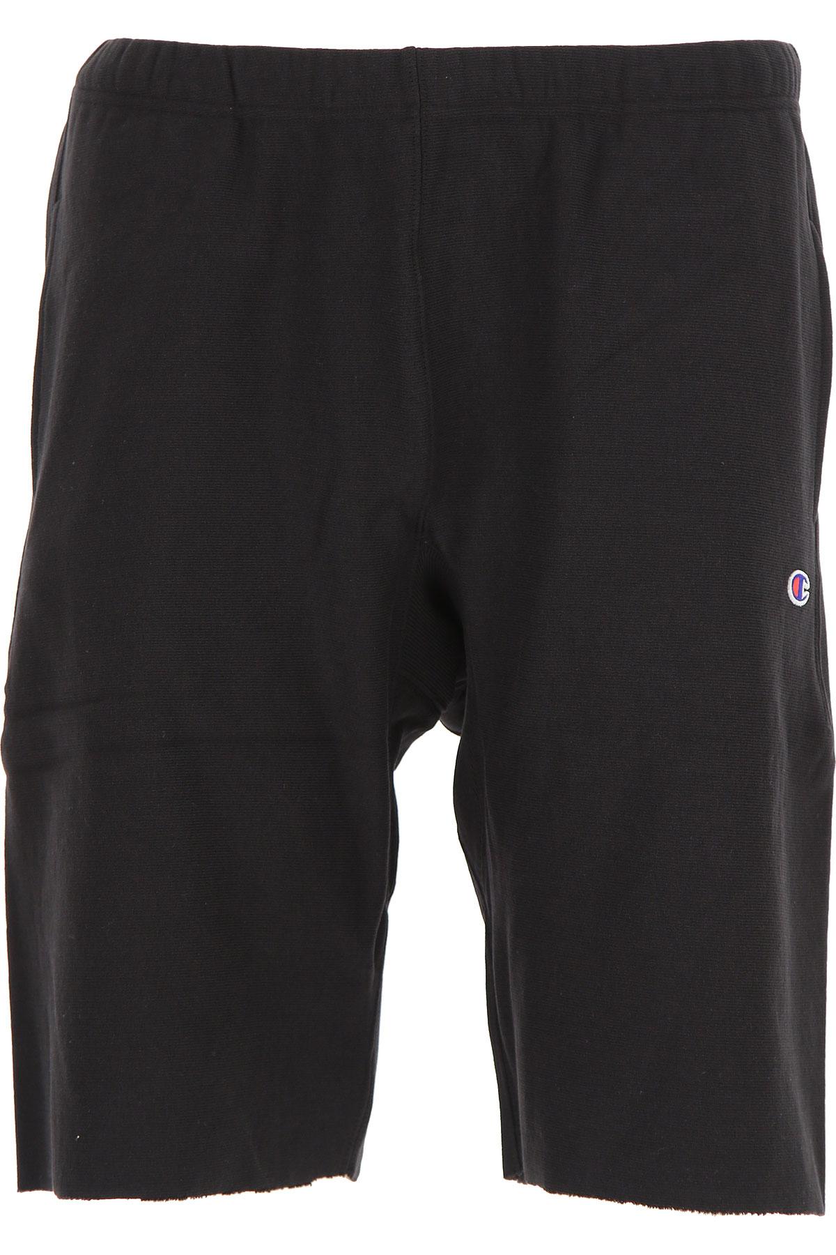 Image of Champion Shorts for Men On Sale, Black, Cotton, 2017, L XL