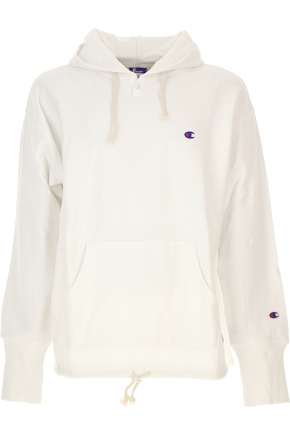 Champion Sweatshirt for Men, White, Cotton, 2017, L XL USA-454771
