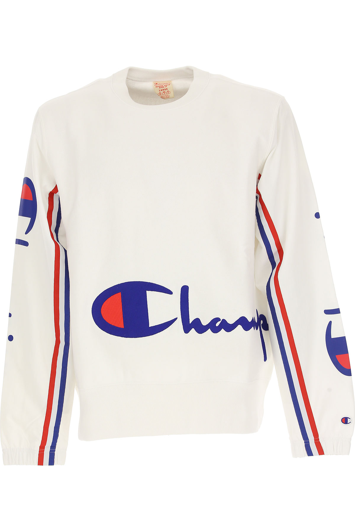 Champion Sweatshirt for Men, White, Cotton, 2017, L M S XL USA-478728