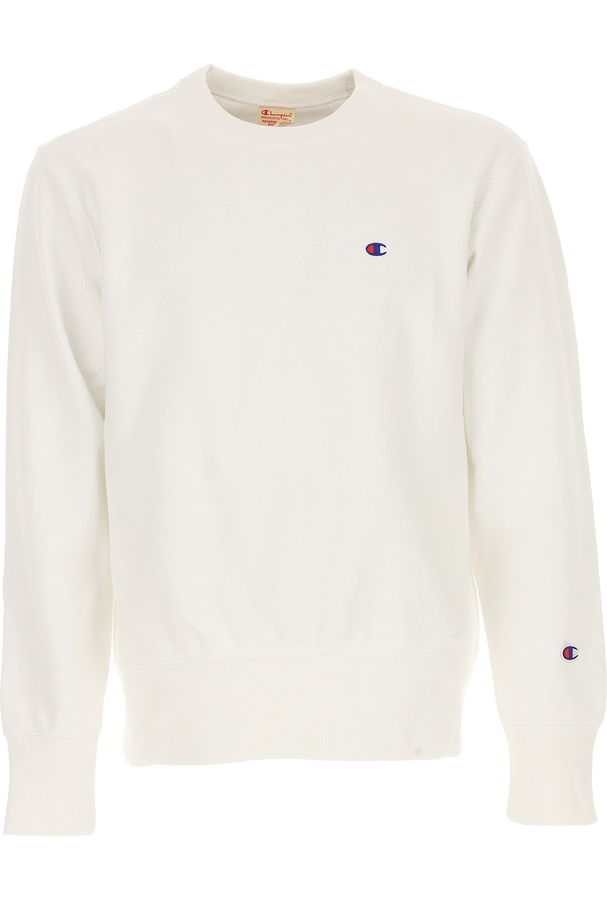 Champion Sweatshirt for Men, White, Cotton, 2017, M S XL USA-478724