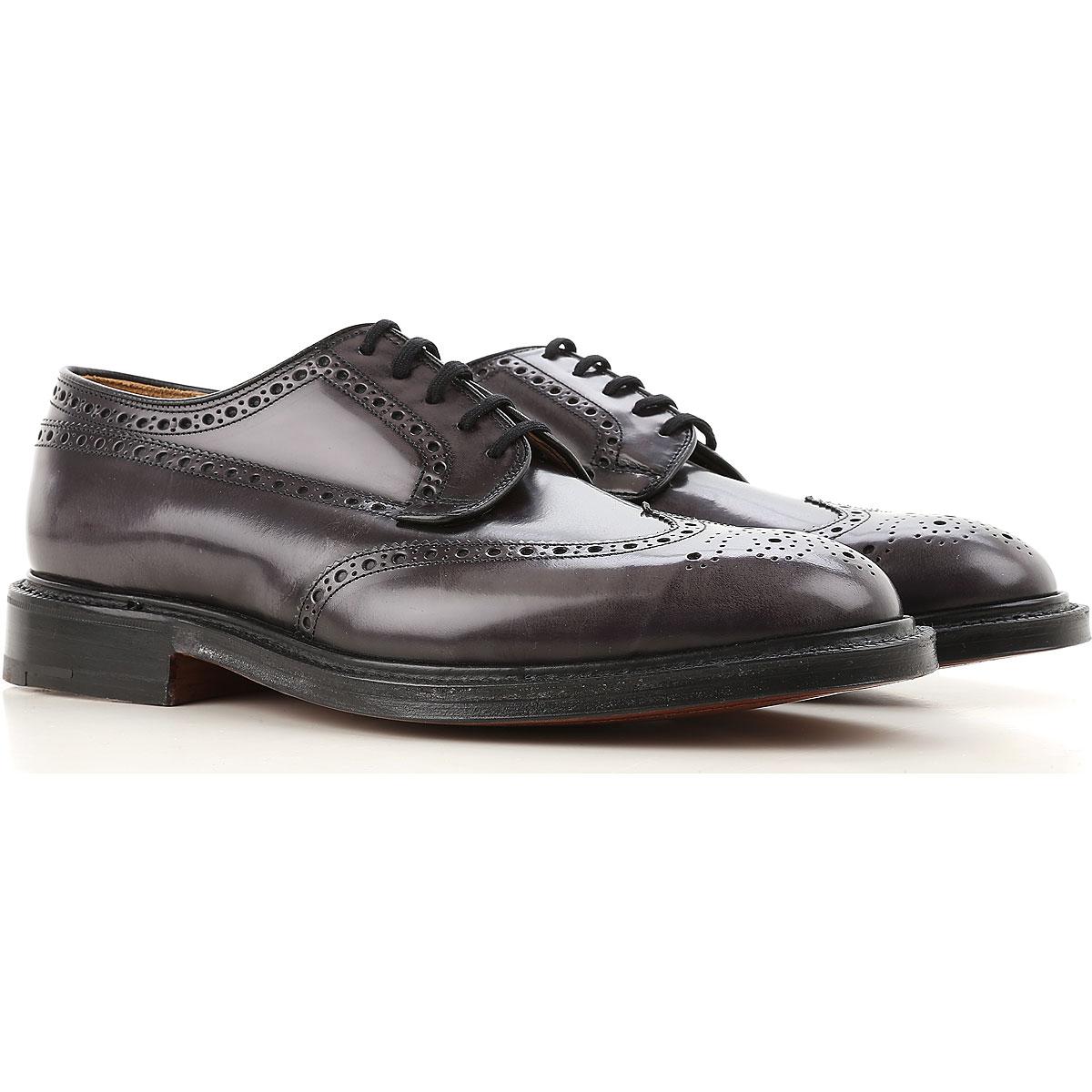 Image of Church's Brogue Shoes On Sale, Dark Asphalt Grey, Leather, 2017, 10 8 9 9.5