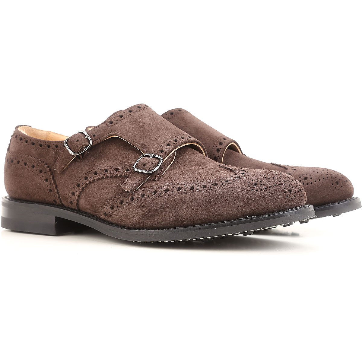 Image of Church's Brogue Shoes, Dark Ebony, Suede leather, 2017, 10 11 7 8.5 9