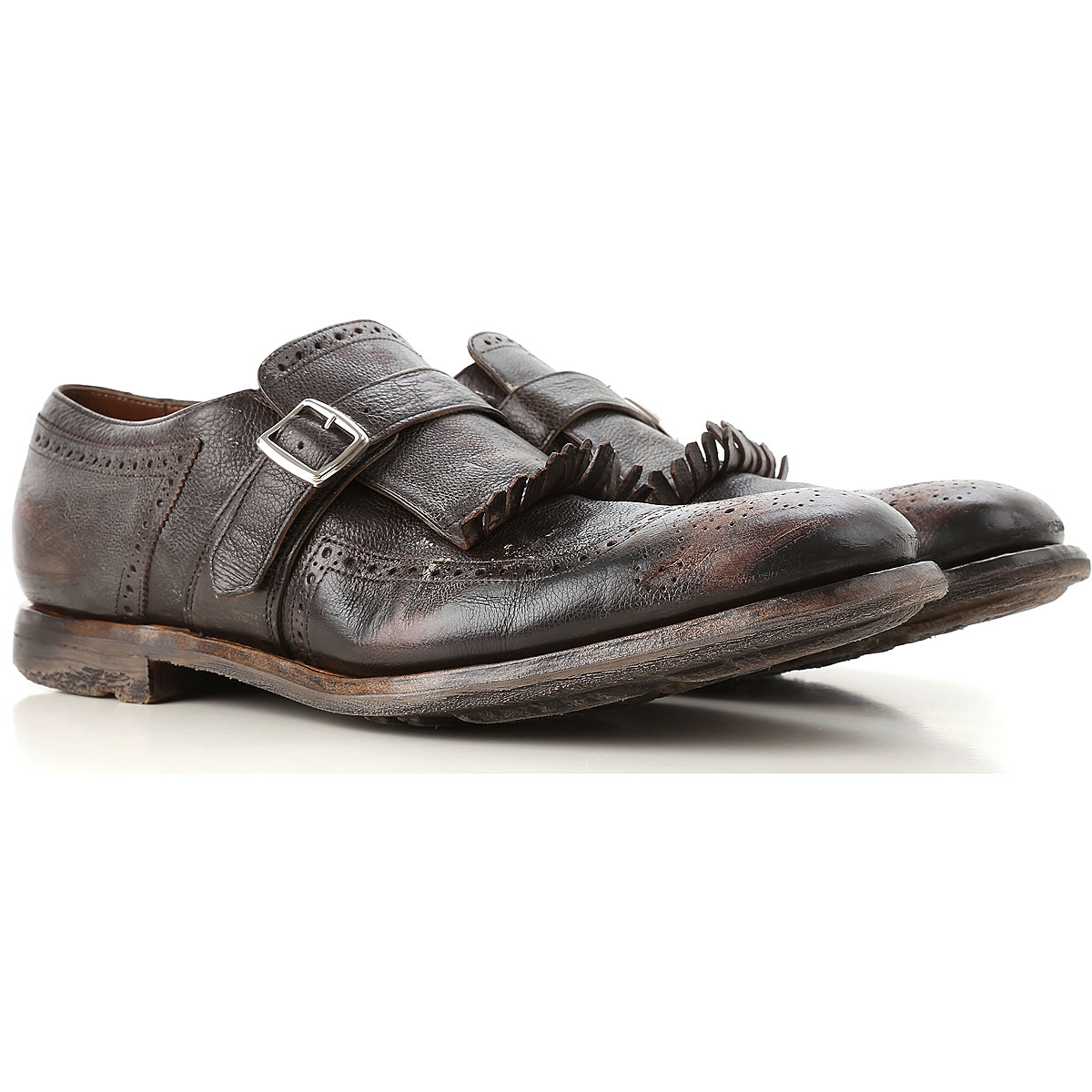 Image of Church's Monk Strap Shoes for Men, Ebony, Leather, 2017, 10 11 7.5 8 8.5 9 9.5